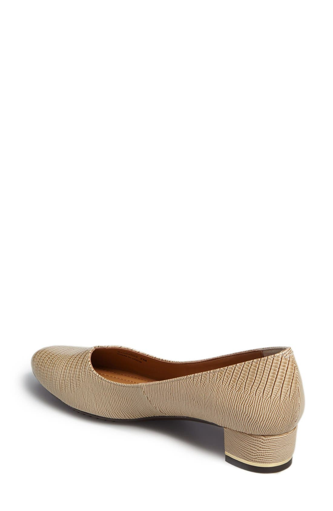 Bambalina Block Heel Pump,                             Alternate thumbnail 2, color,                             Taupe Faux Leather