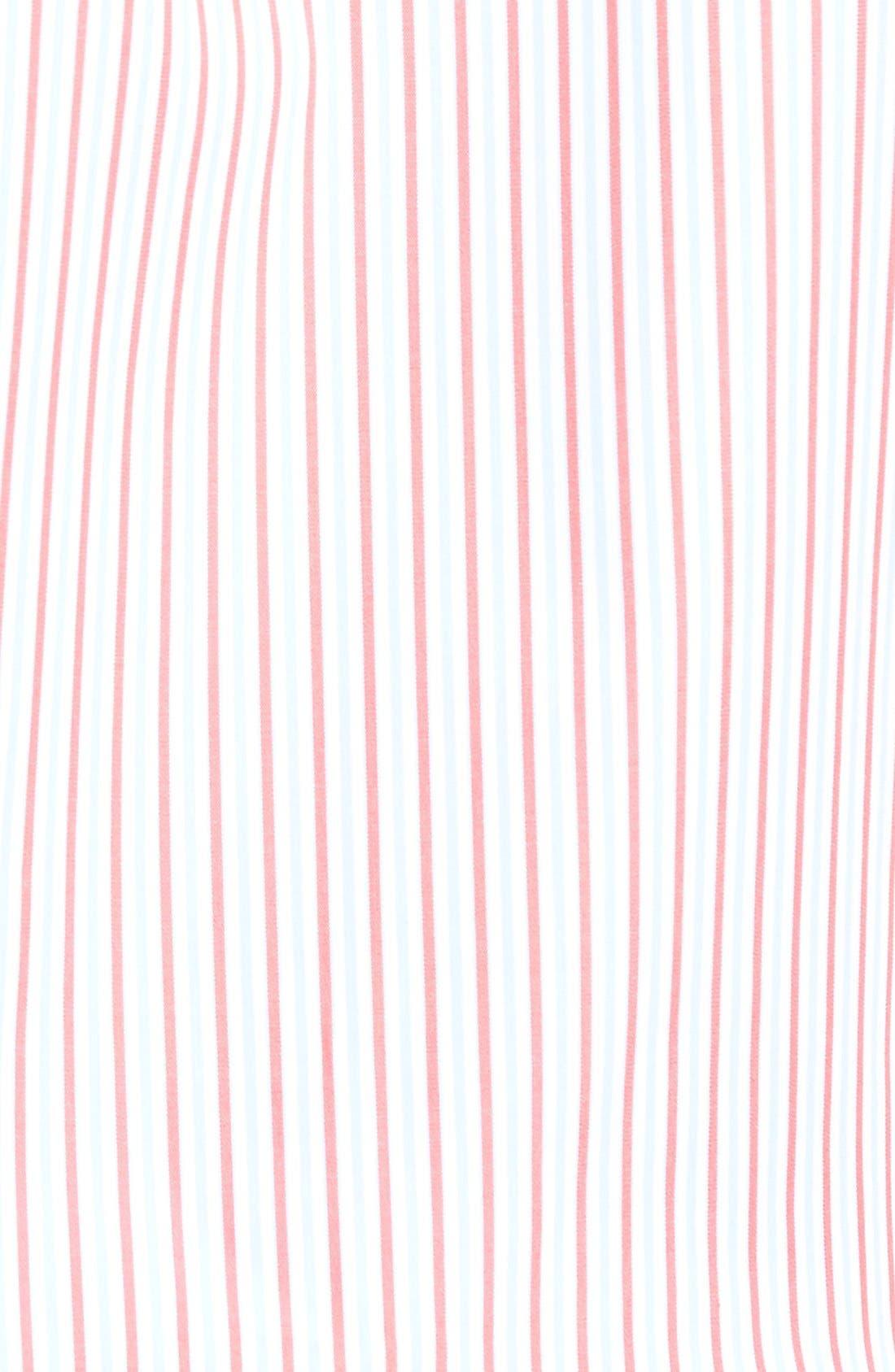 Summer Stripe Regular Fit Sport Shirt,                             Alternate thumbnail 5, color,                             Cape Red