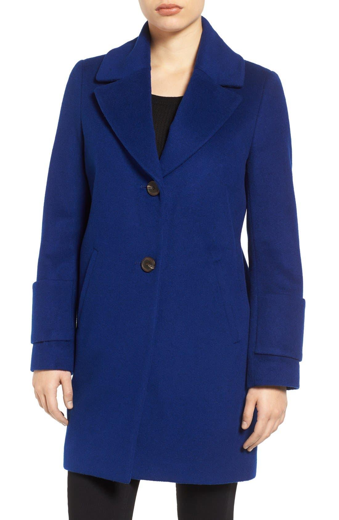 Reefer Coat,                             Main thumbnail 1, color,                             Cobalt