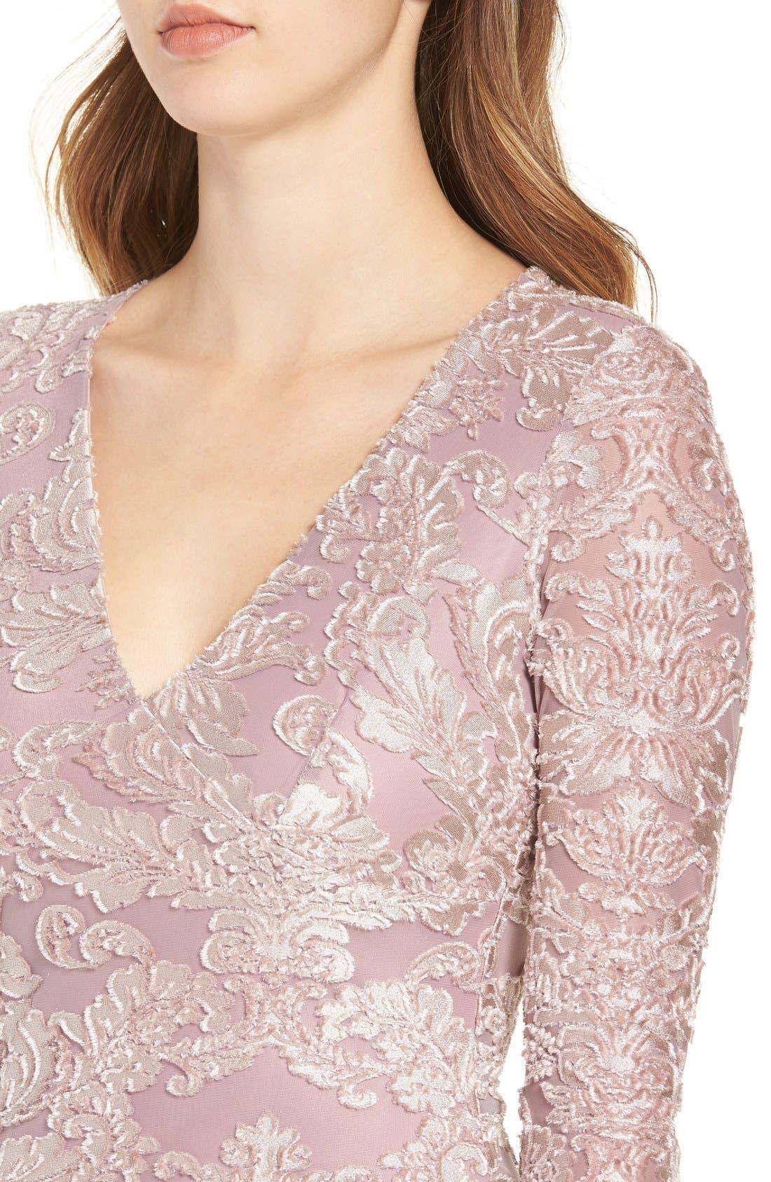 Alternate Image 4  - Leith Floral Velvet Dress
