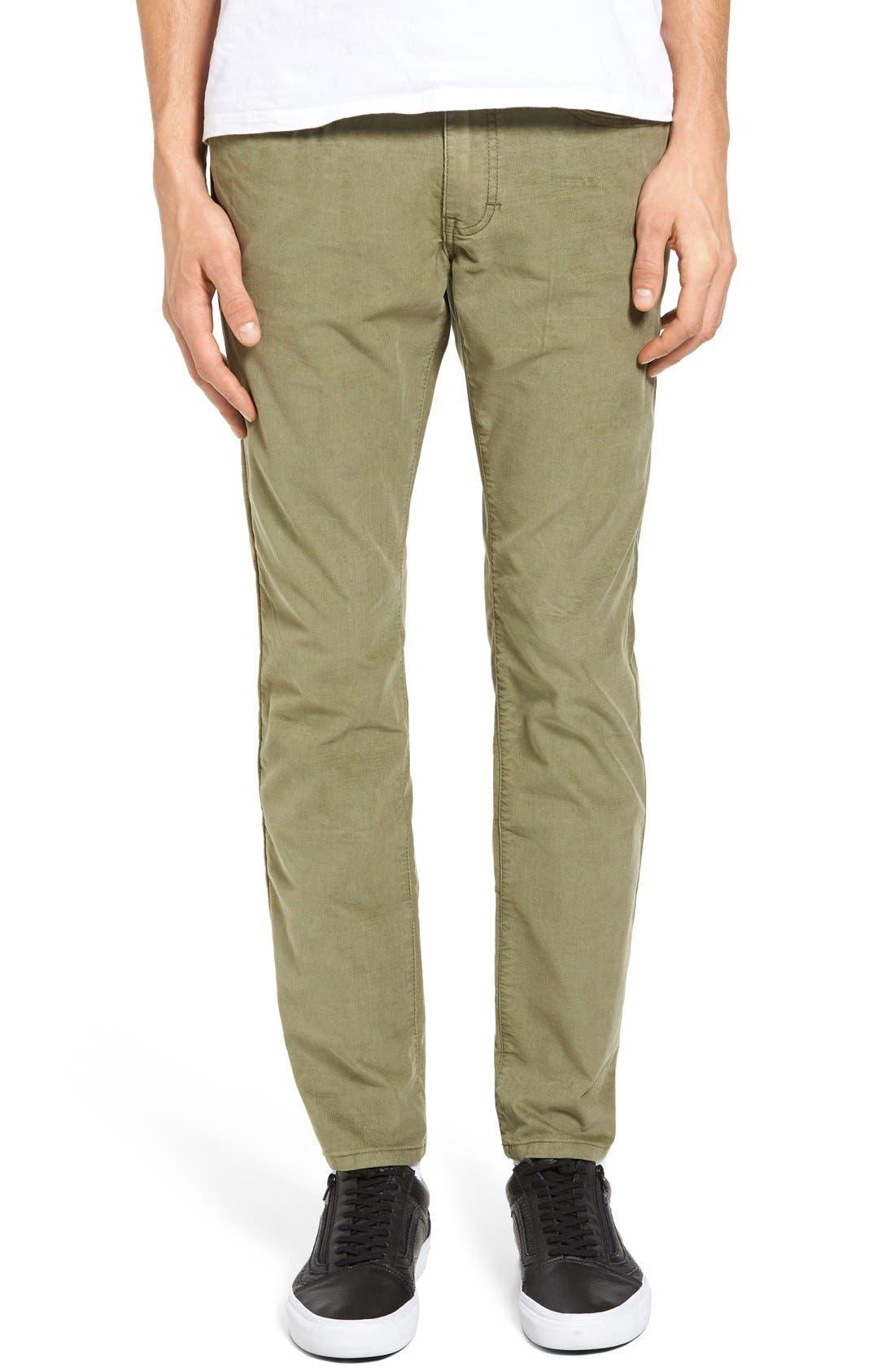 Bryce Chopper Slim Fit Corduroy Pants,                         Main,                         color, Olive