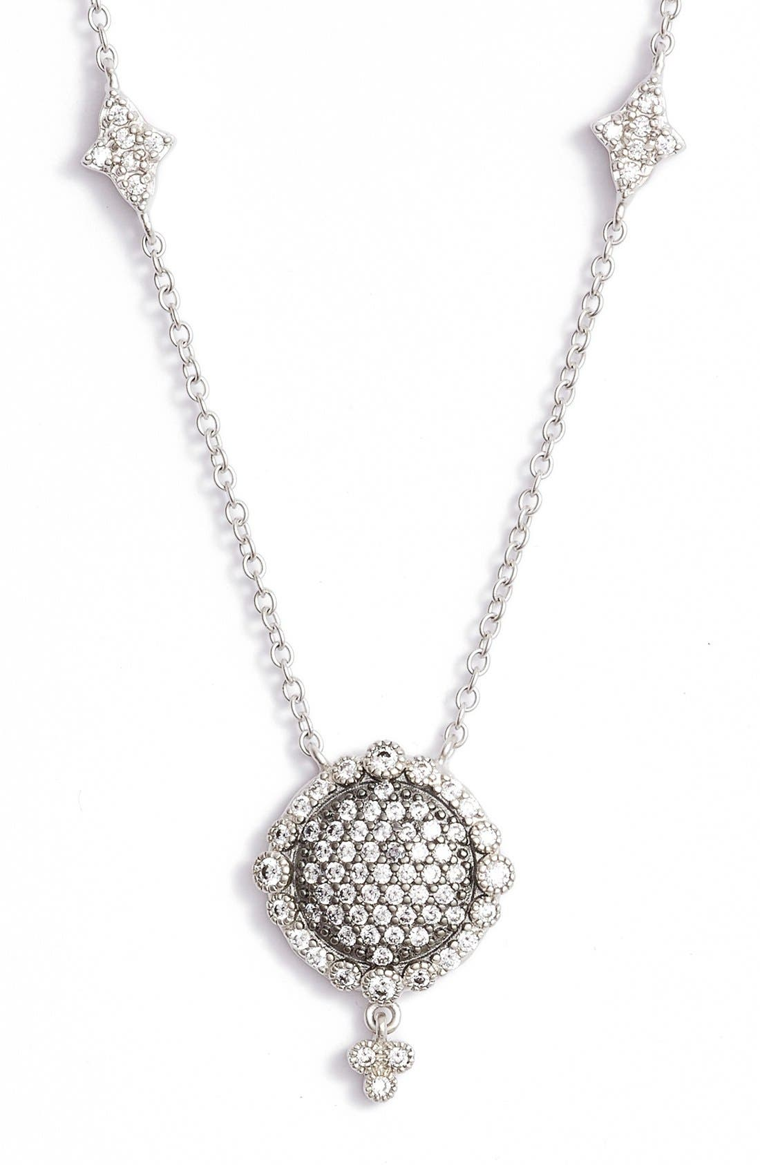 FREIDA ROTHMAN Disc Pendant Necklace