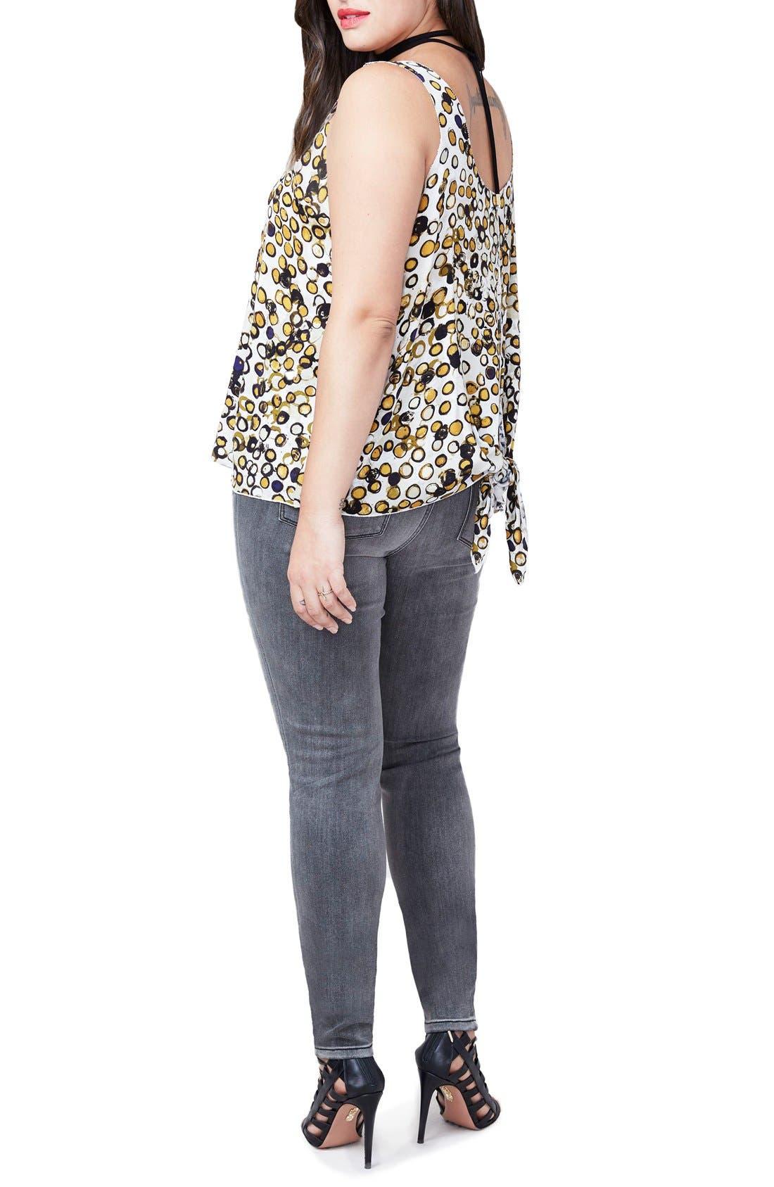 Alternate Image 2  - RACHEL Rachel Roy Tie Back Tank (Plus Size)