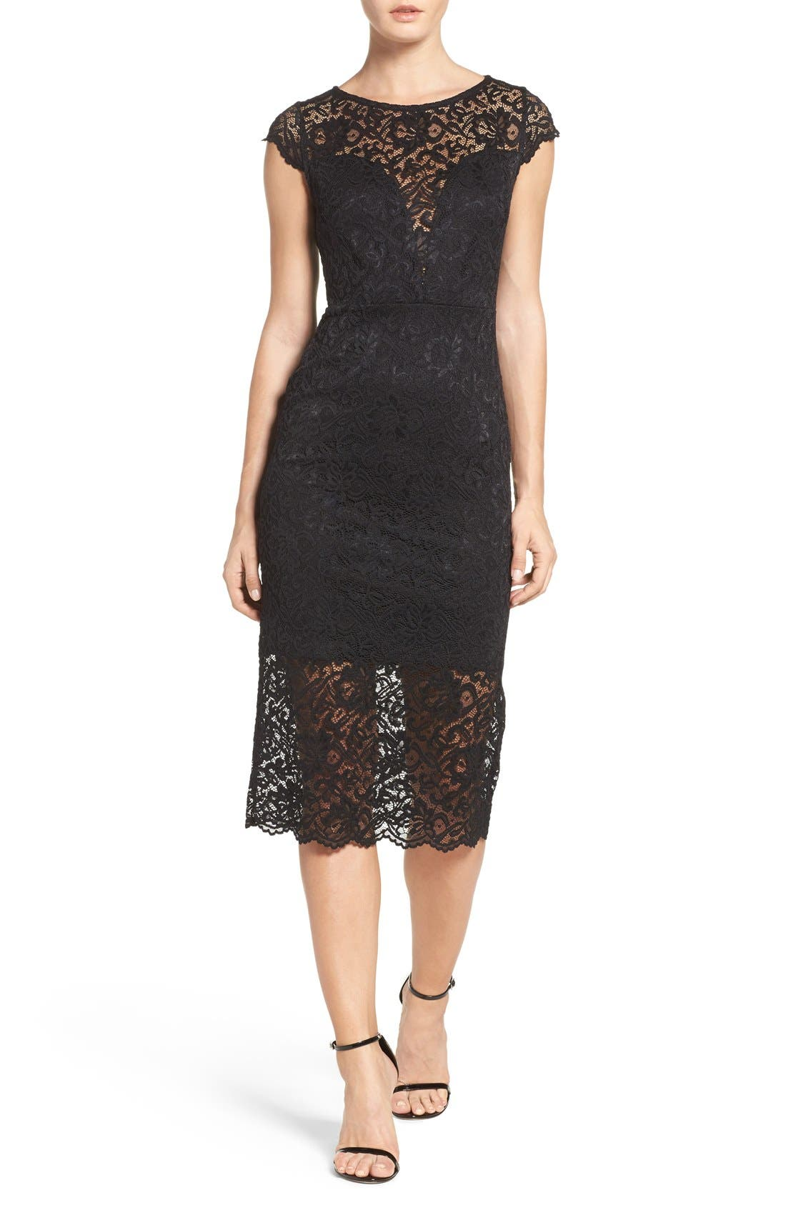 FRAICHE BY J Lace Midi Dress