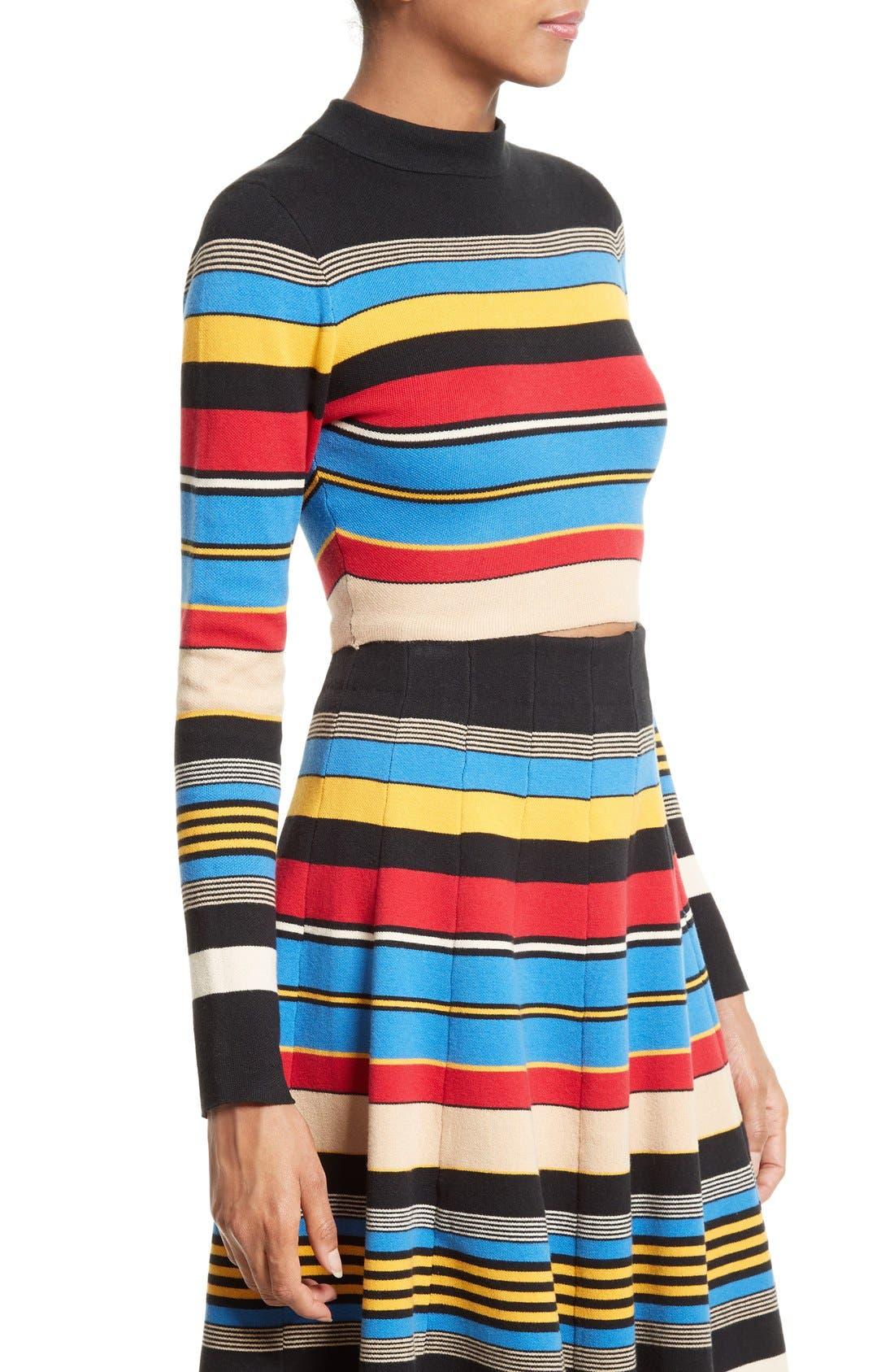 Stripe Crop Top,                             Alternate thumbnail 4, color,                             Multi