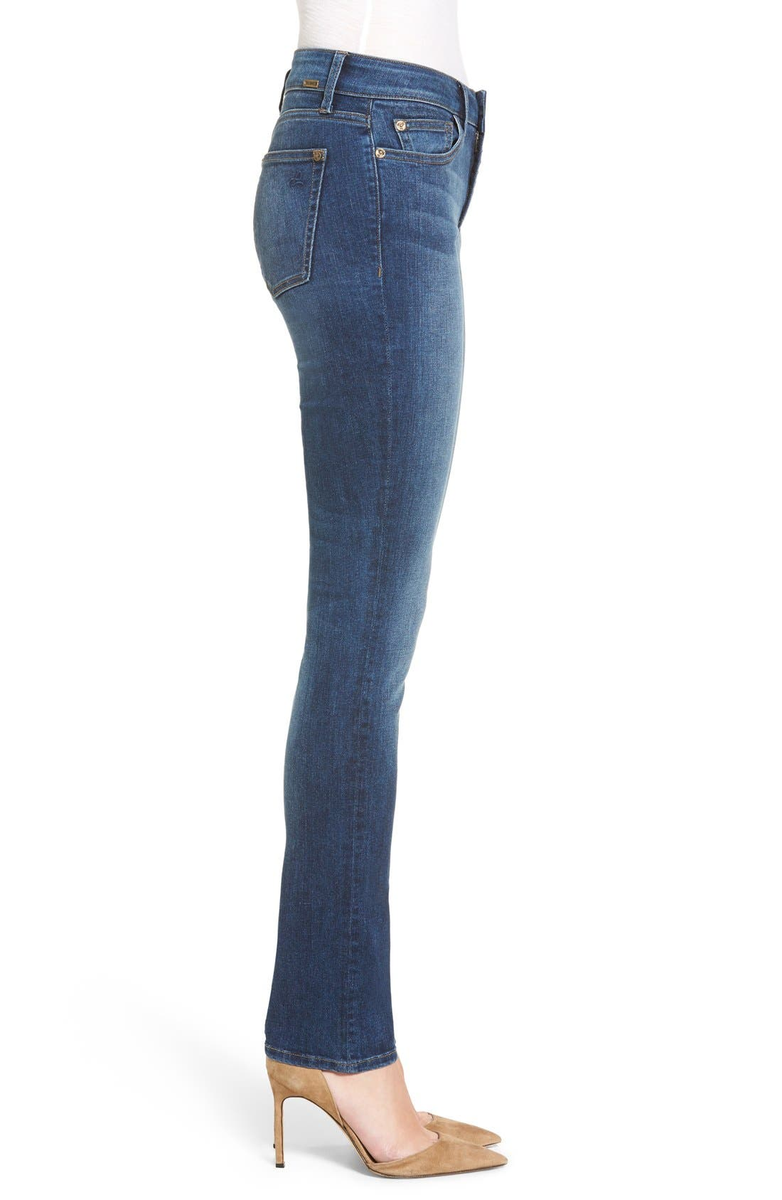 Mara Straight Leg Jeans,                             Alternate thumbnail 3, color,                             Titan