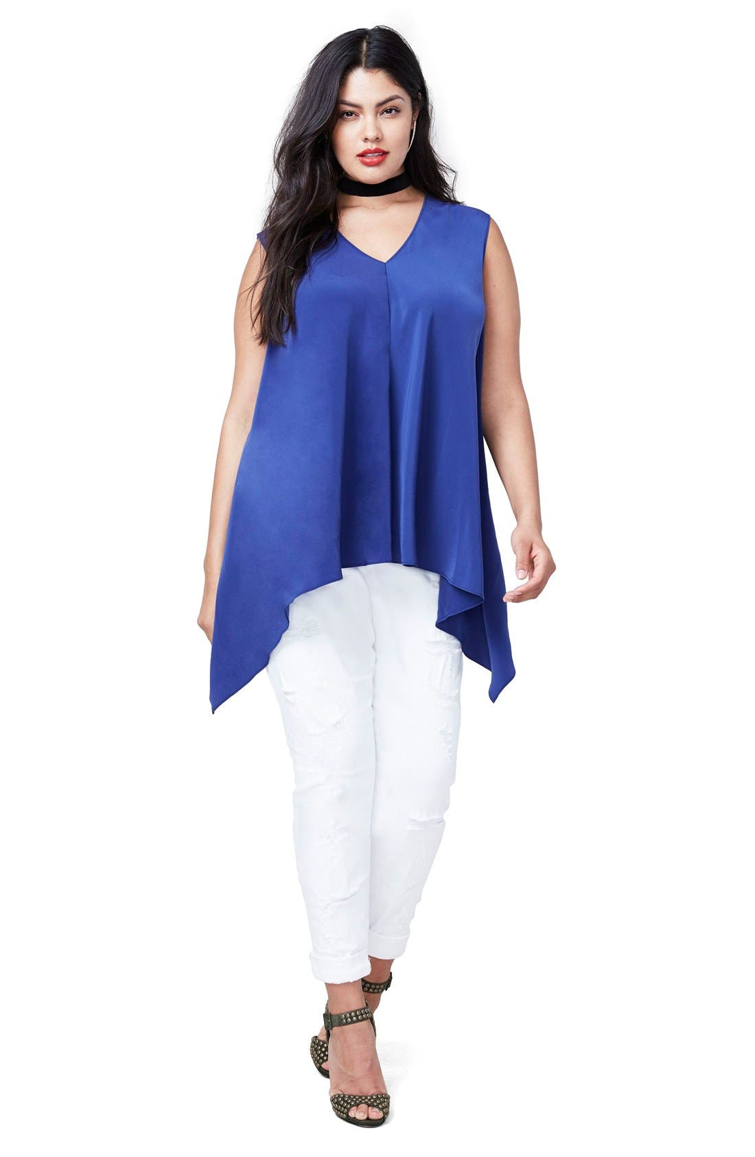 Alternate Image 3  - RACHEL Rachel Roy Side Drape Top (Plus Size)