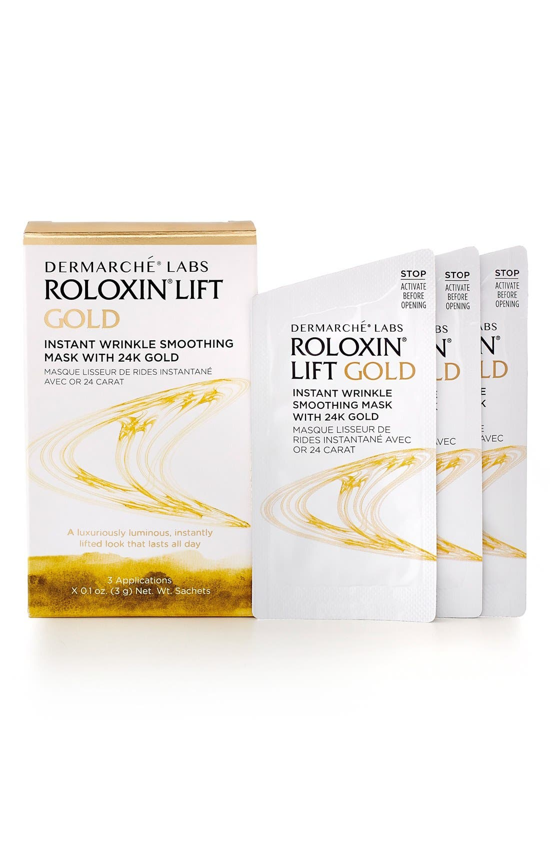 Dermarché® Labs Roloxin® Lift Gold Instant Wrinkle Smoothing Mask with 24K Gold