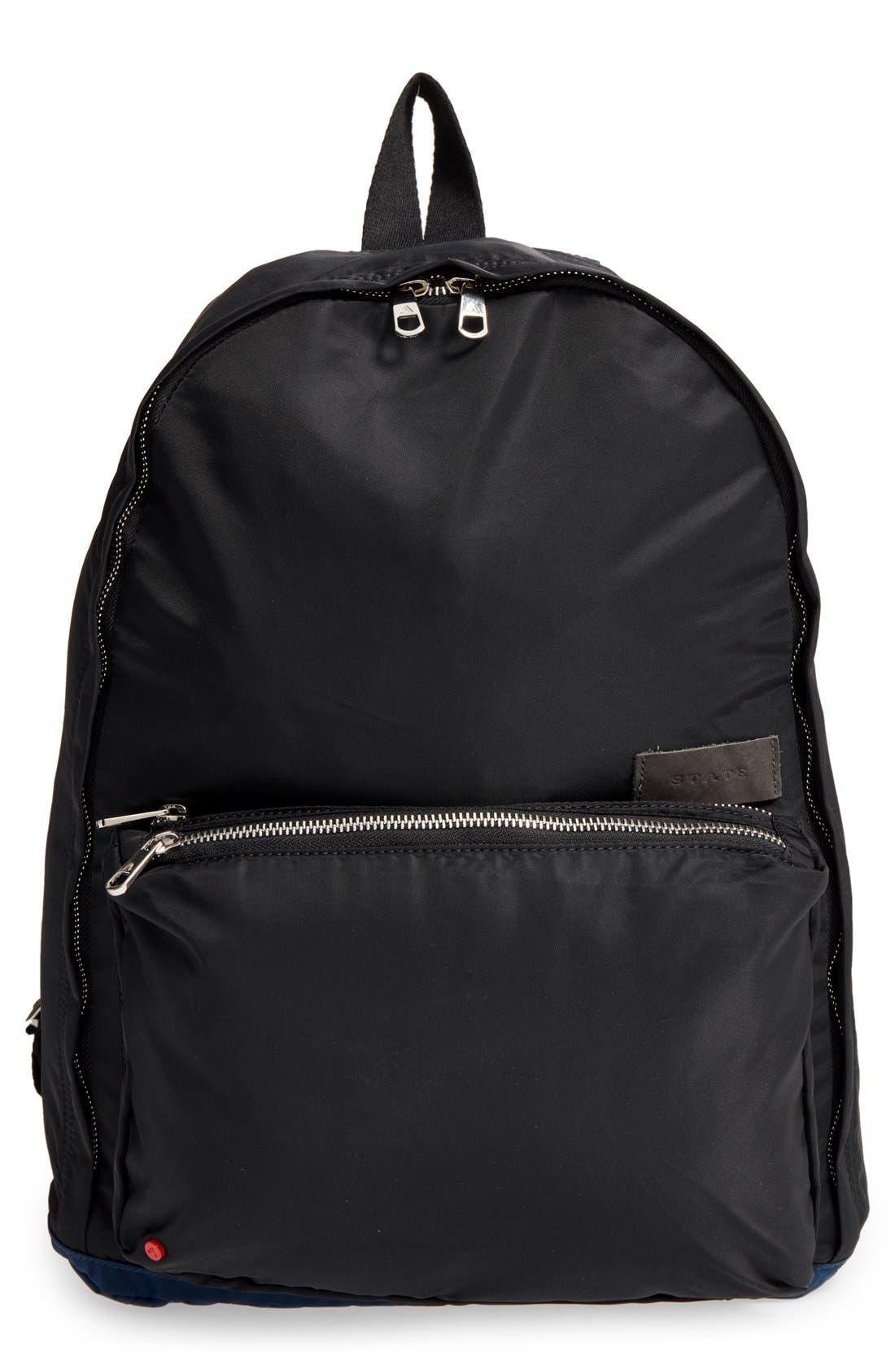 The Heights Adams Backpack,                             Main thumbnail 1, color,                             Black/ Navy