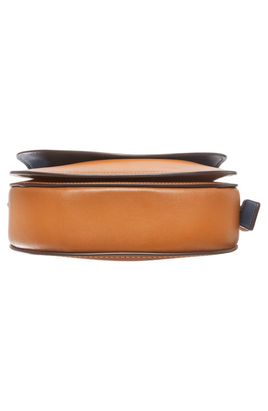 '23' Leather Saddle Bag,                             Alternate thumbnail 6, color,                             Butterscotch