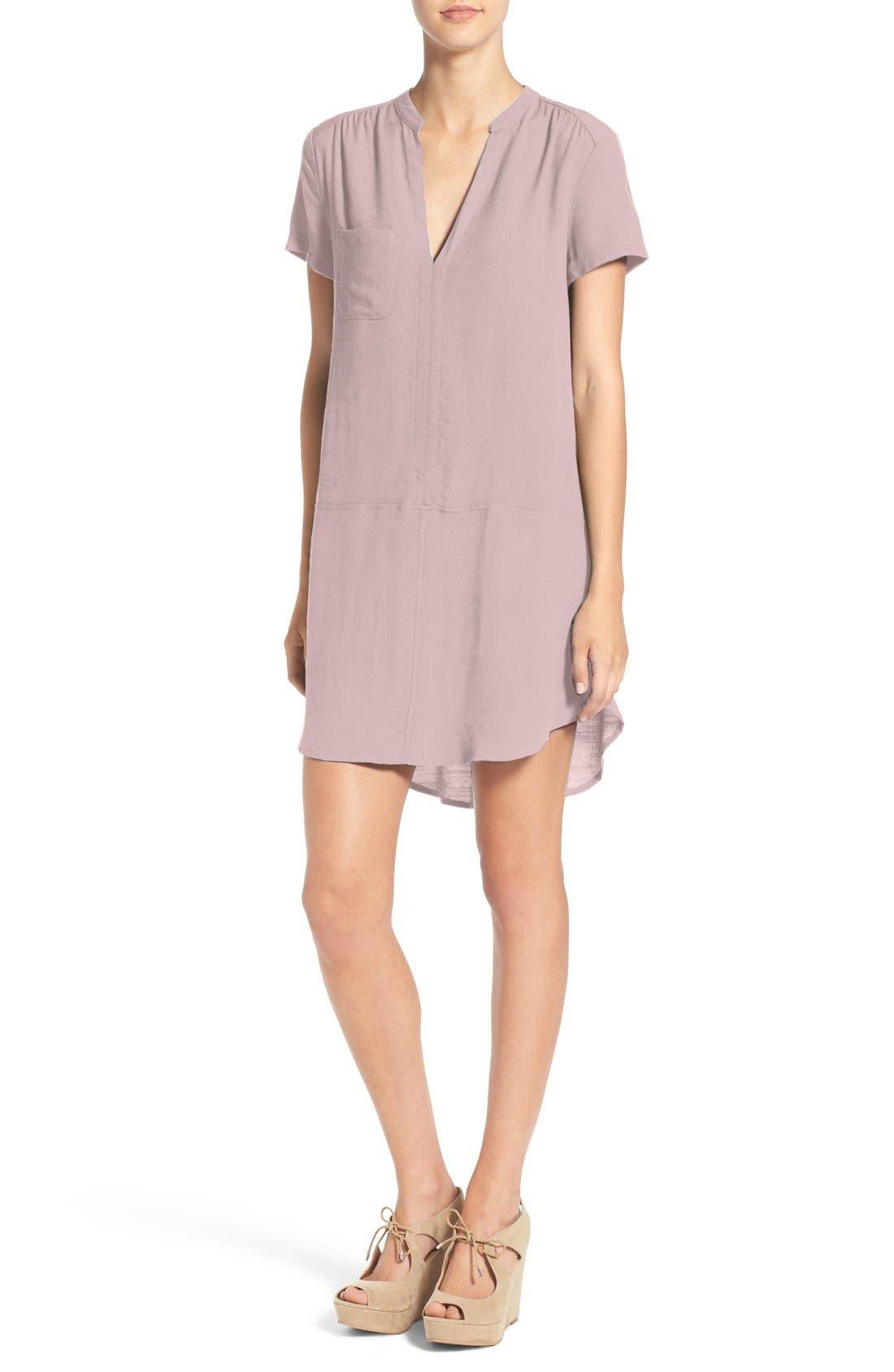 Main Image - Split Neck Shift Dress