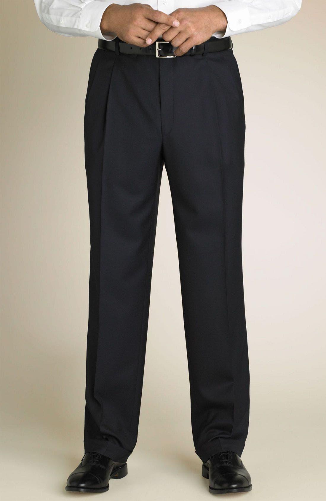 'Madison' Navy Loro Piana Wool Suit,                             Alternate thumbnail 2, color,                             Navy