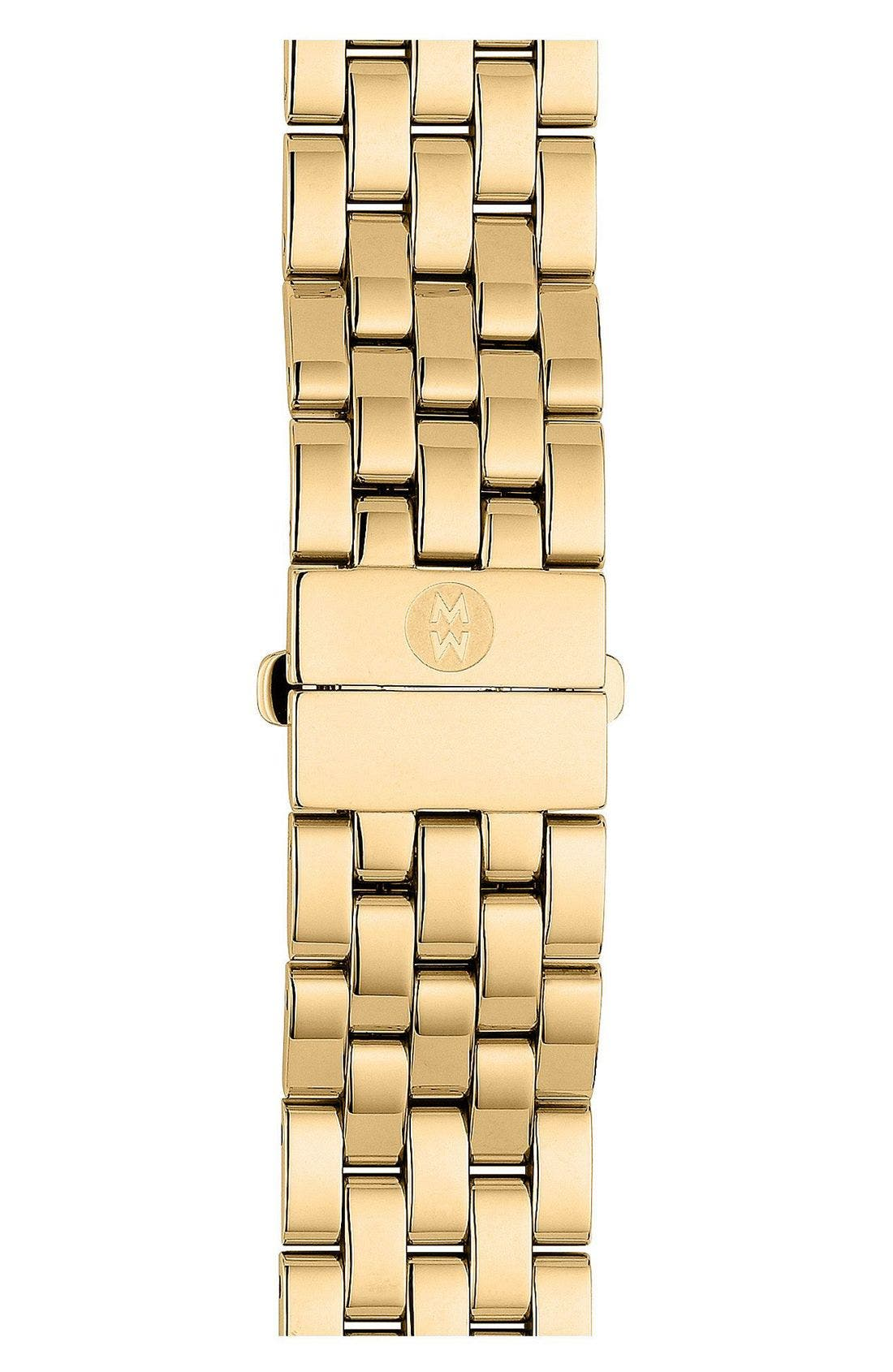MICHELE Urban Mini 16mm Gold Plated Bracelet Watchband
