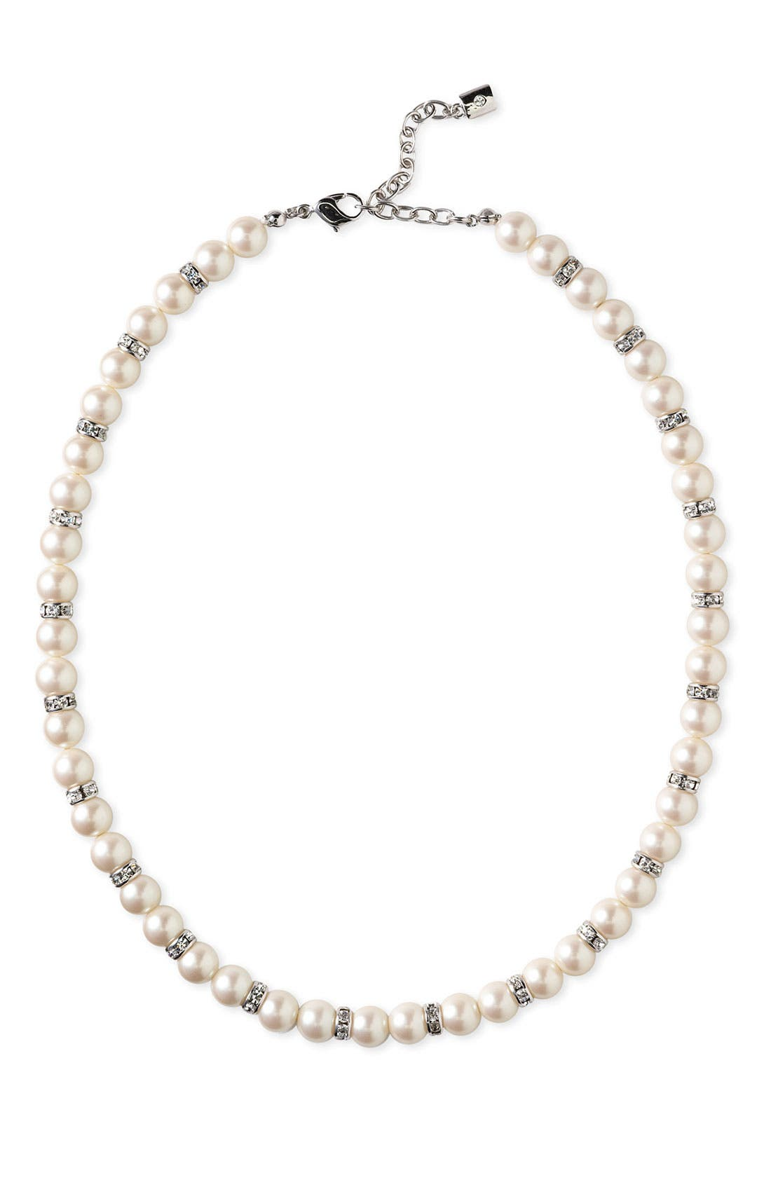 Alternate Image 3  - Nordstrom 8mm Glass Pearl Necklace