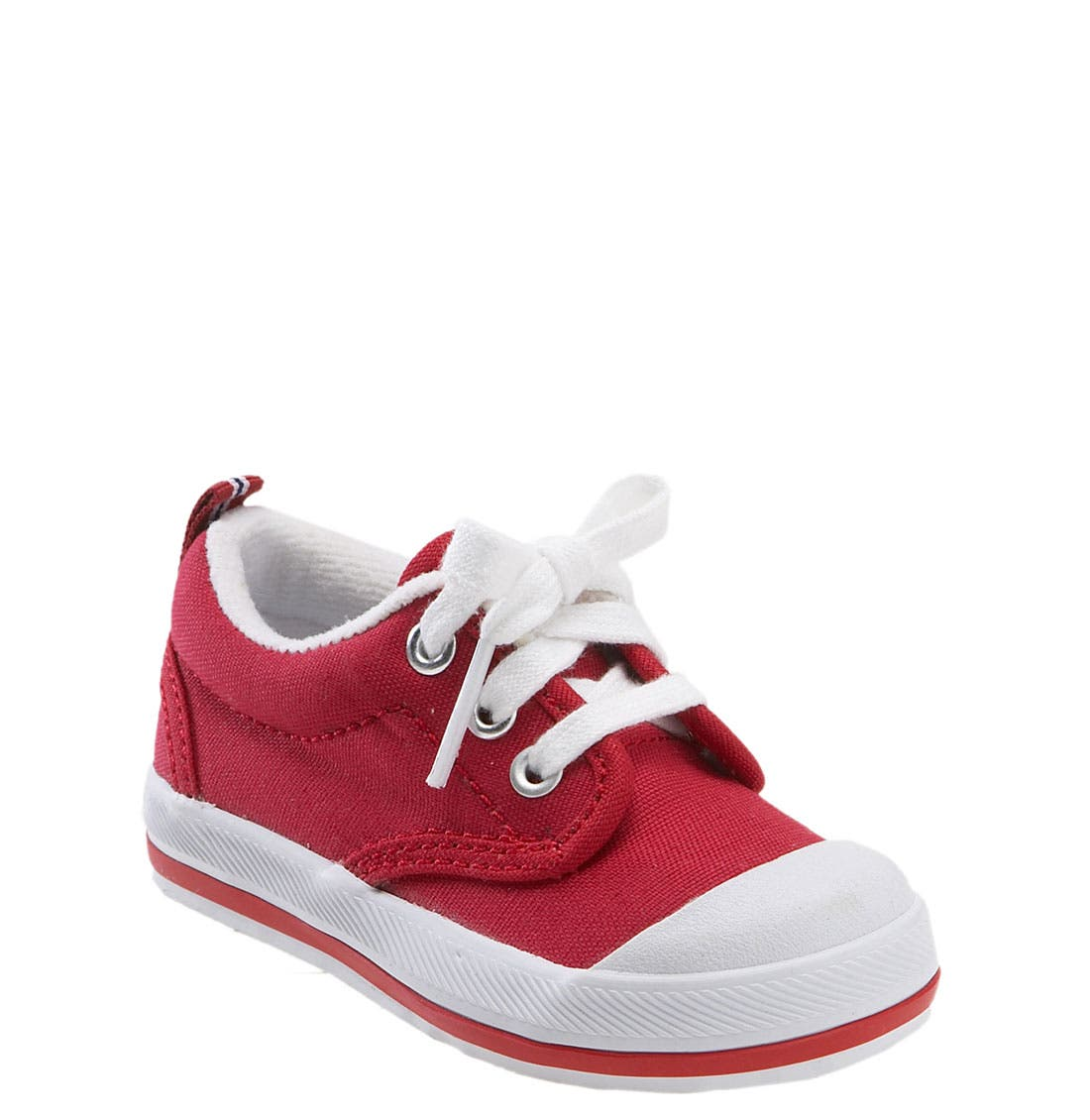 'Graham' Lace-Up Sneaker,                             Main thumbnail 1, color,                             Red Canvas