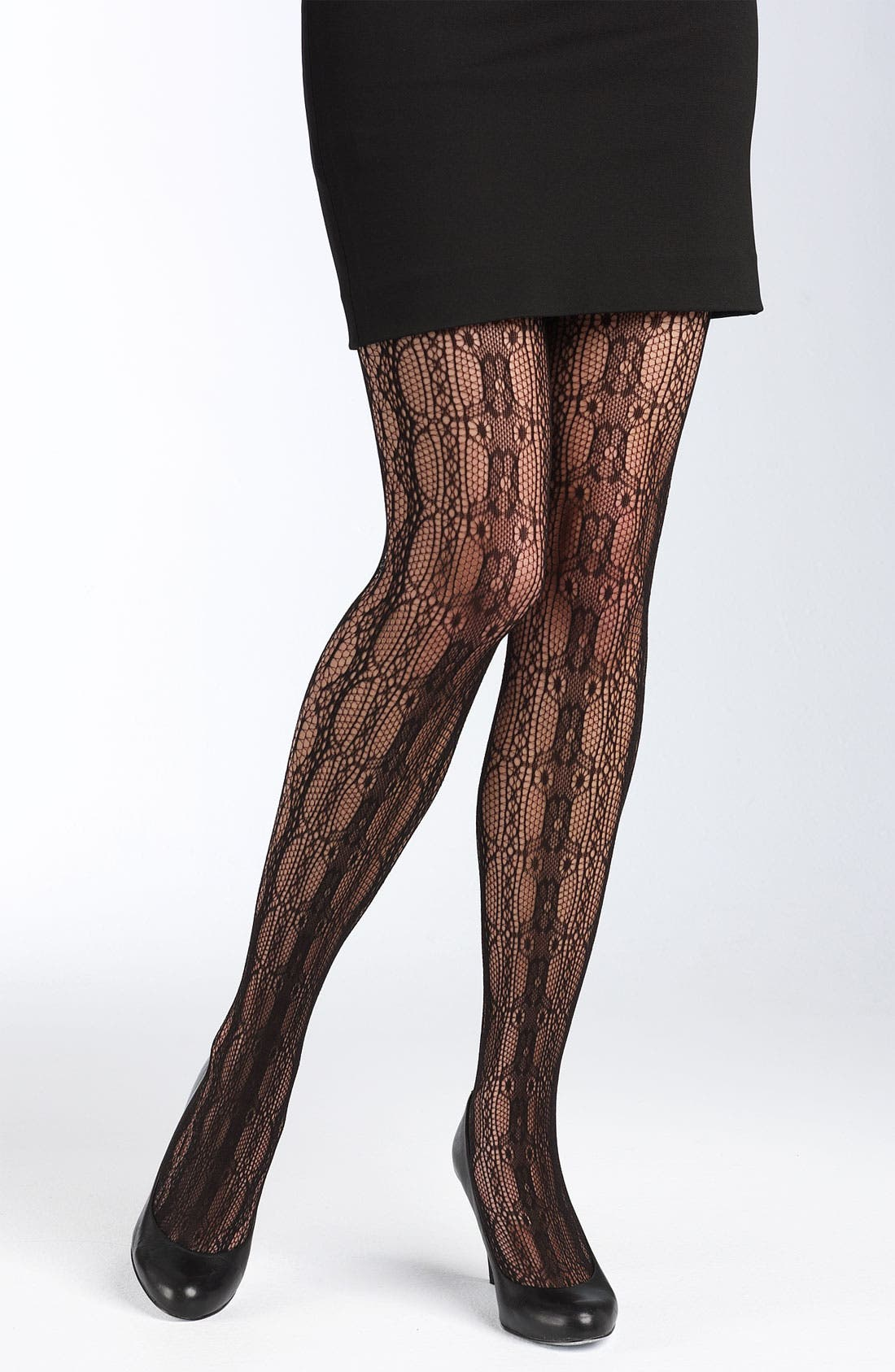 Main Image - Betsey Johnson Lace Tights