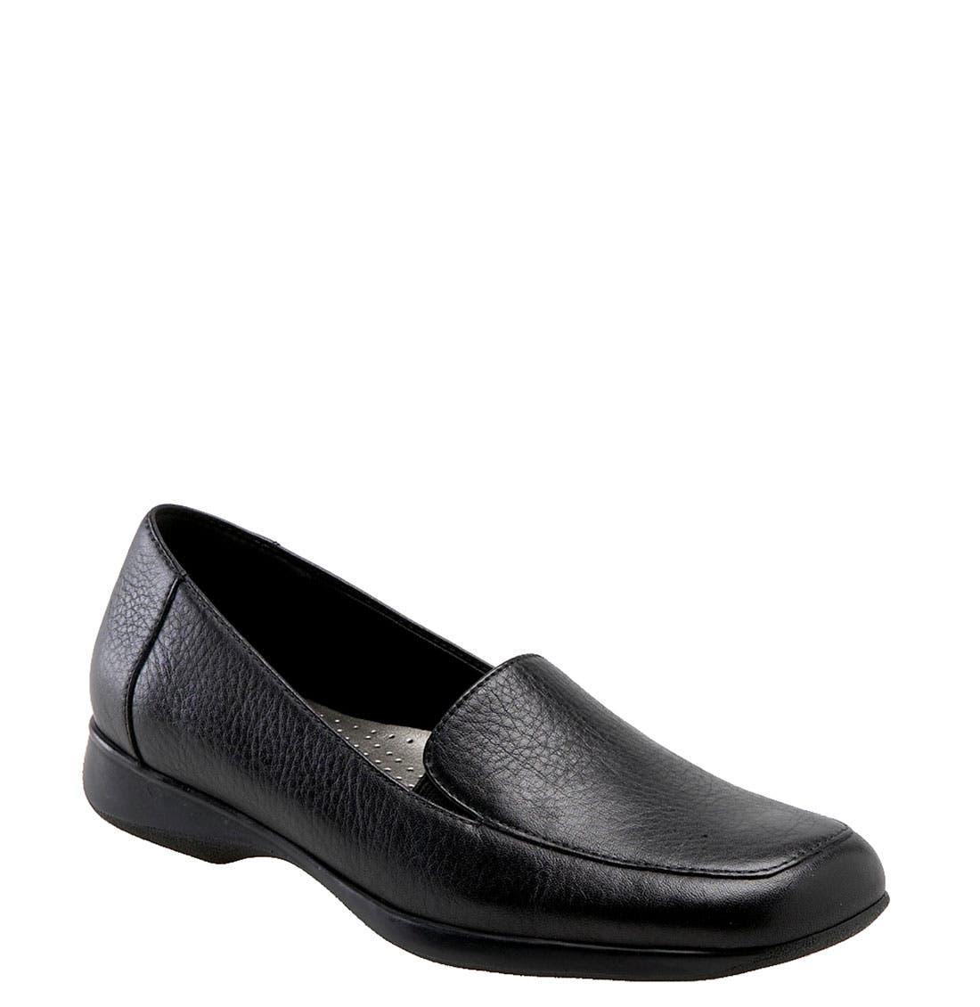 'Jenn' Loafer,                         Main,                         color, Black Soft Tumbled Leather