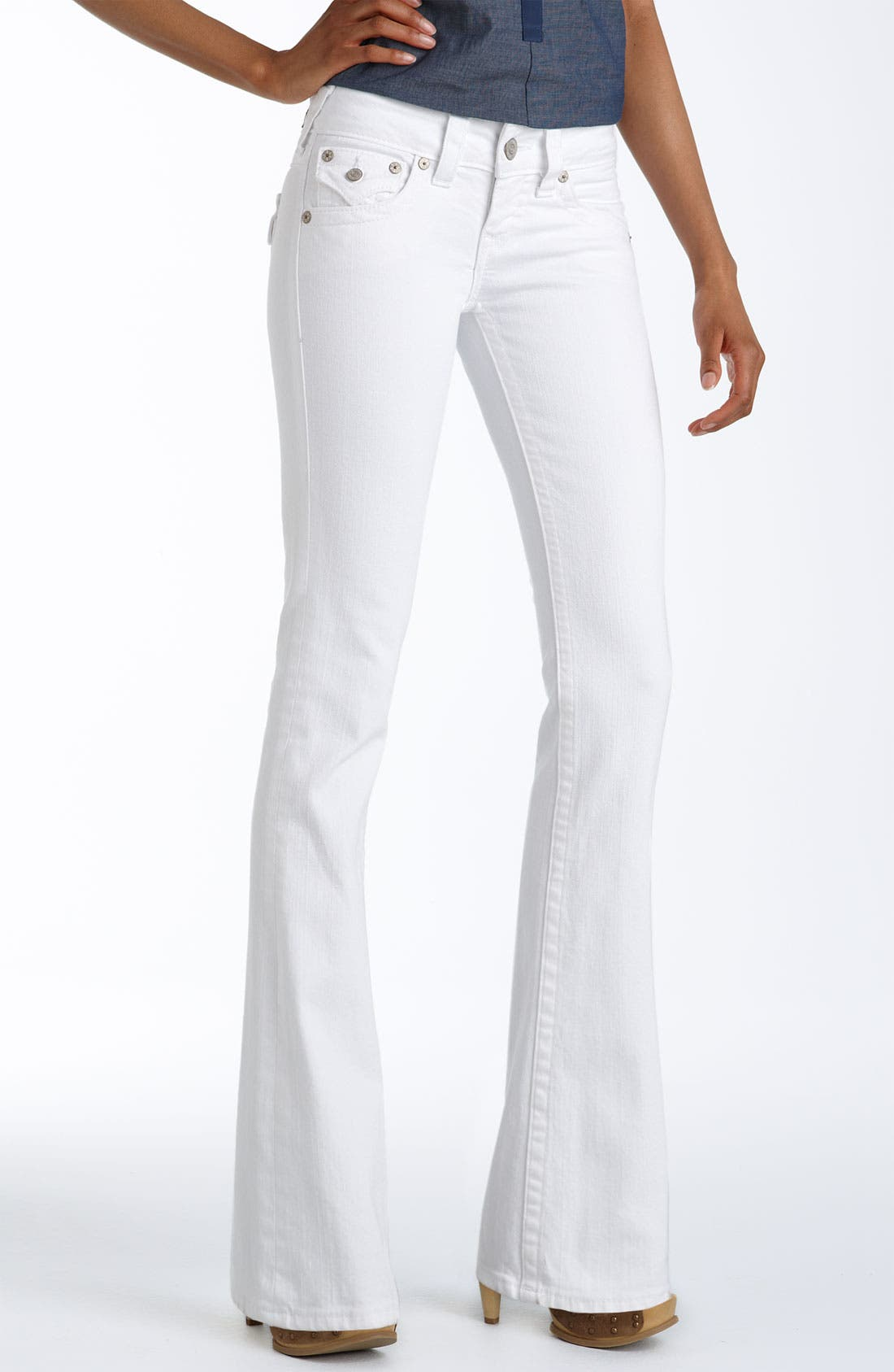 Alternate Image 2  - True Religion Brand Jeans 'Becky' Bootcut Stretch Jeans (Body Rinse White)