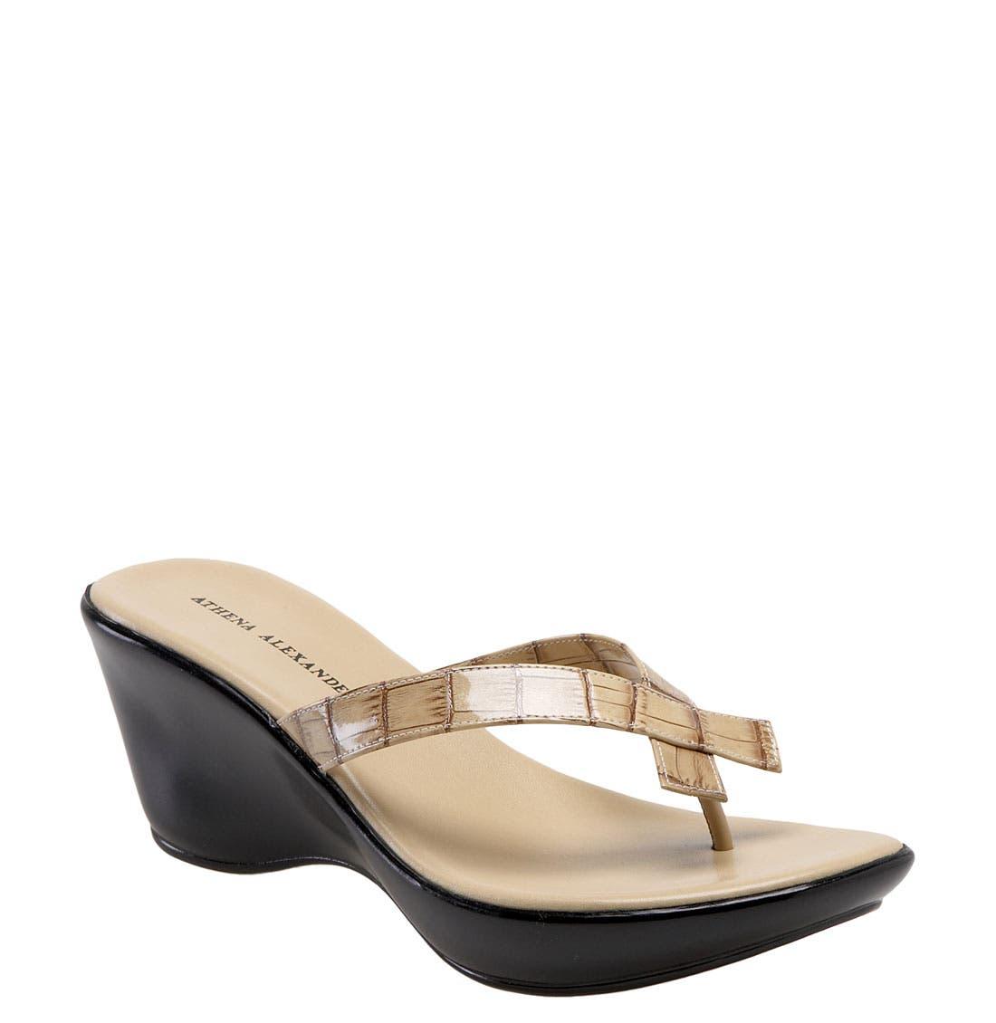 Alternate Image 1 Selected - Athena Alexander 'Bunni' Wedge Sandal