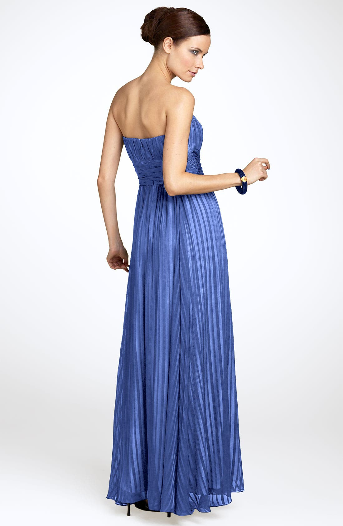 Alternate Image 2  - BCBGMAXAZRIA Strapless Silk Gown