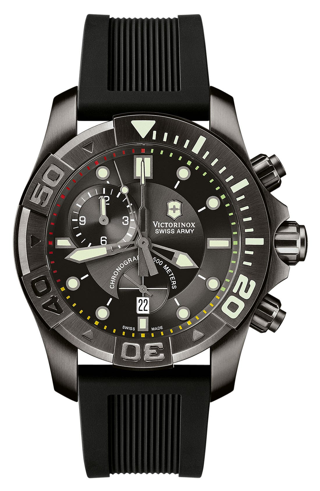 Alternate Image 1 Selected - Victorinox Swiss Army® 'Dive Master' Chronograph Watch, 43mm