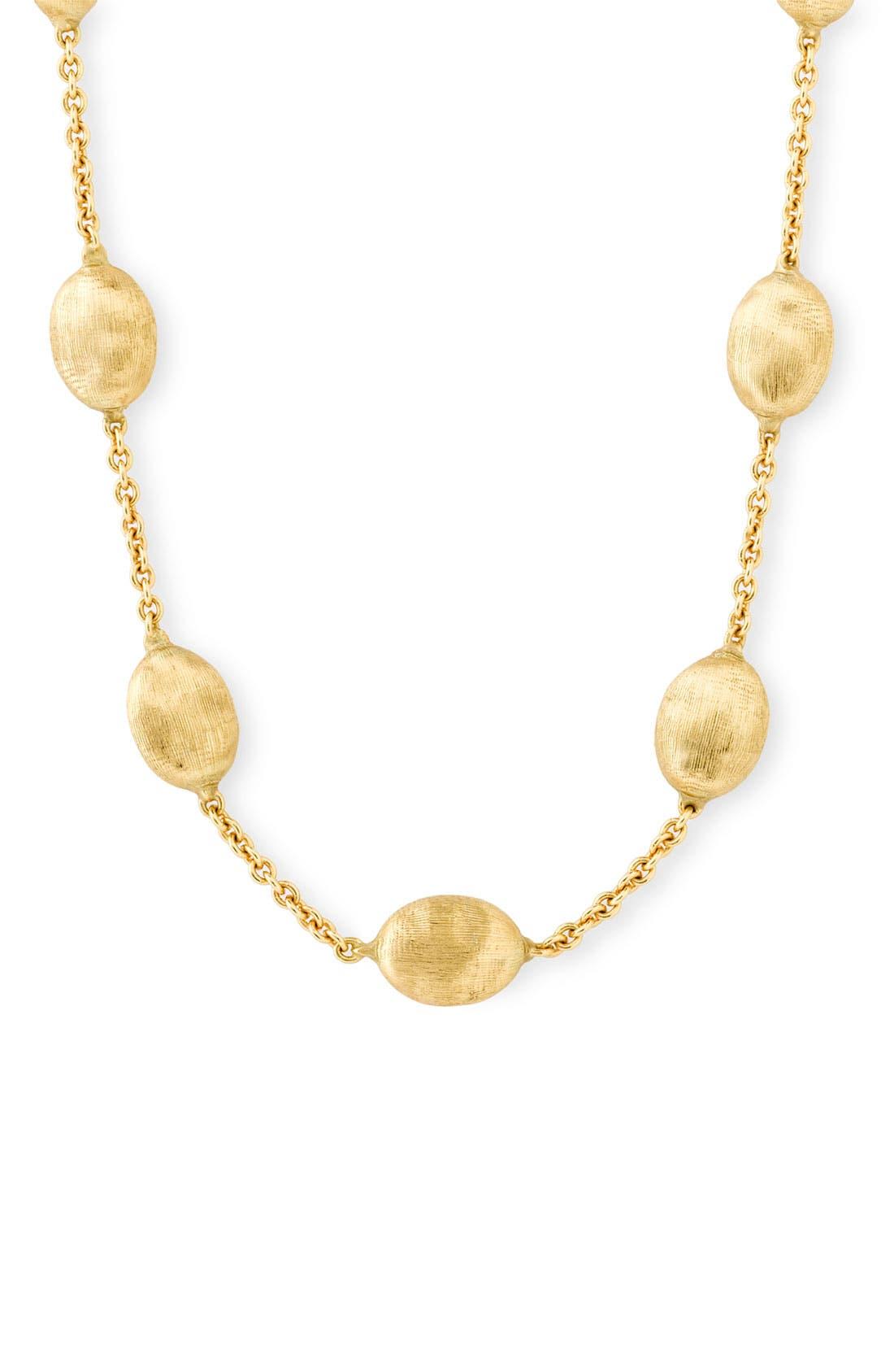 'Siviglia' Station Necklace,                         Main,                         color, Yellow Gold