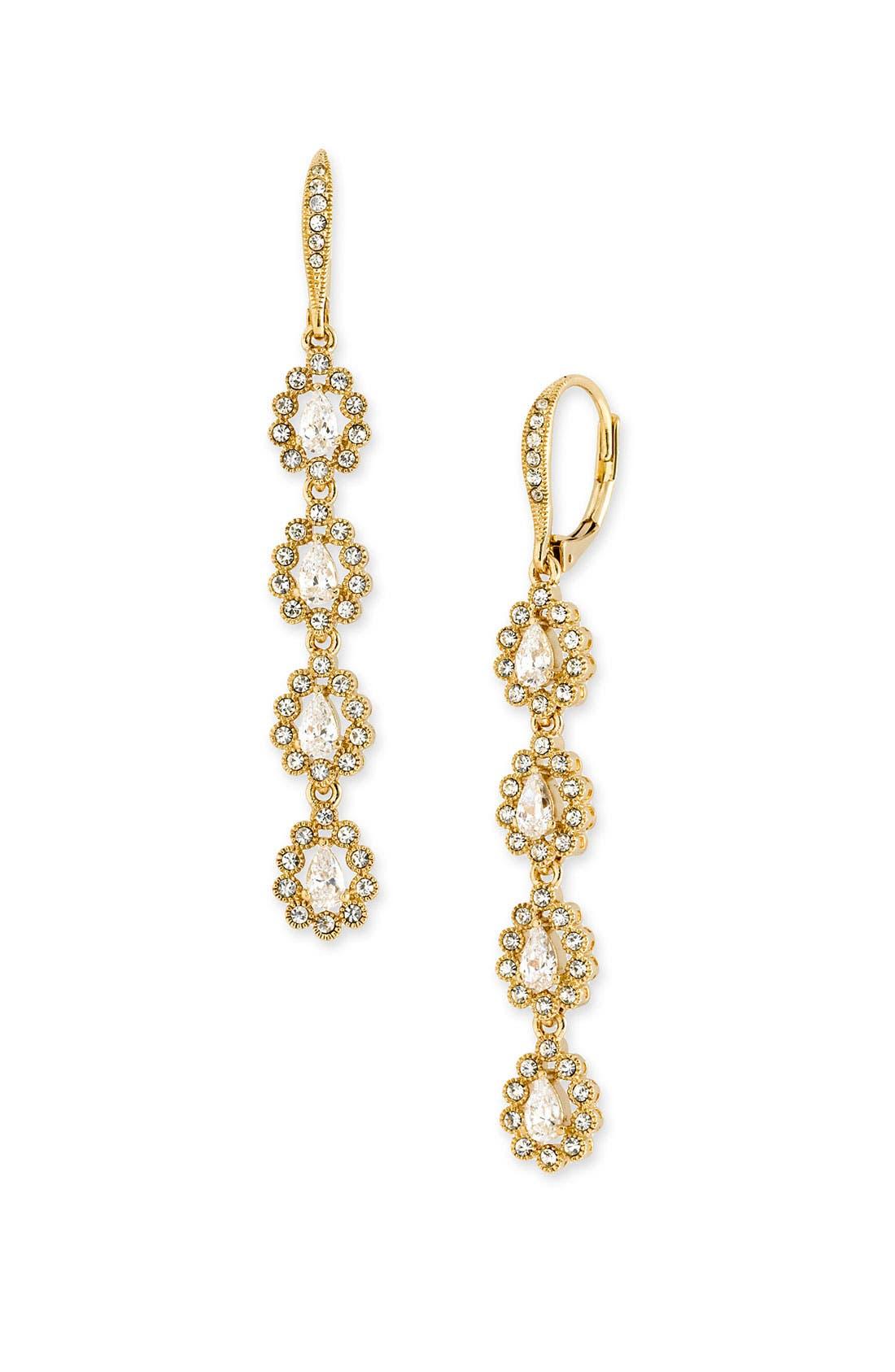 Main Image - Nadri Linear Teardrop Earrings