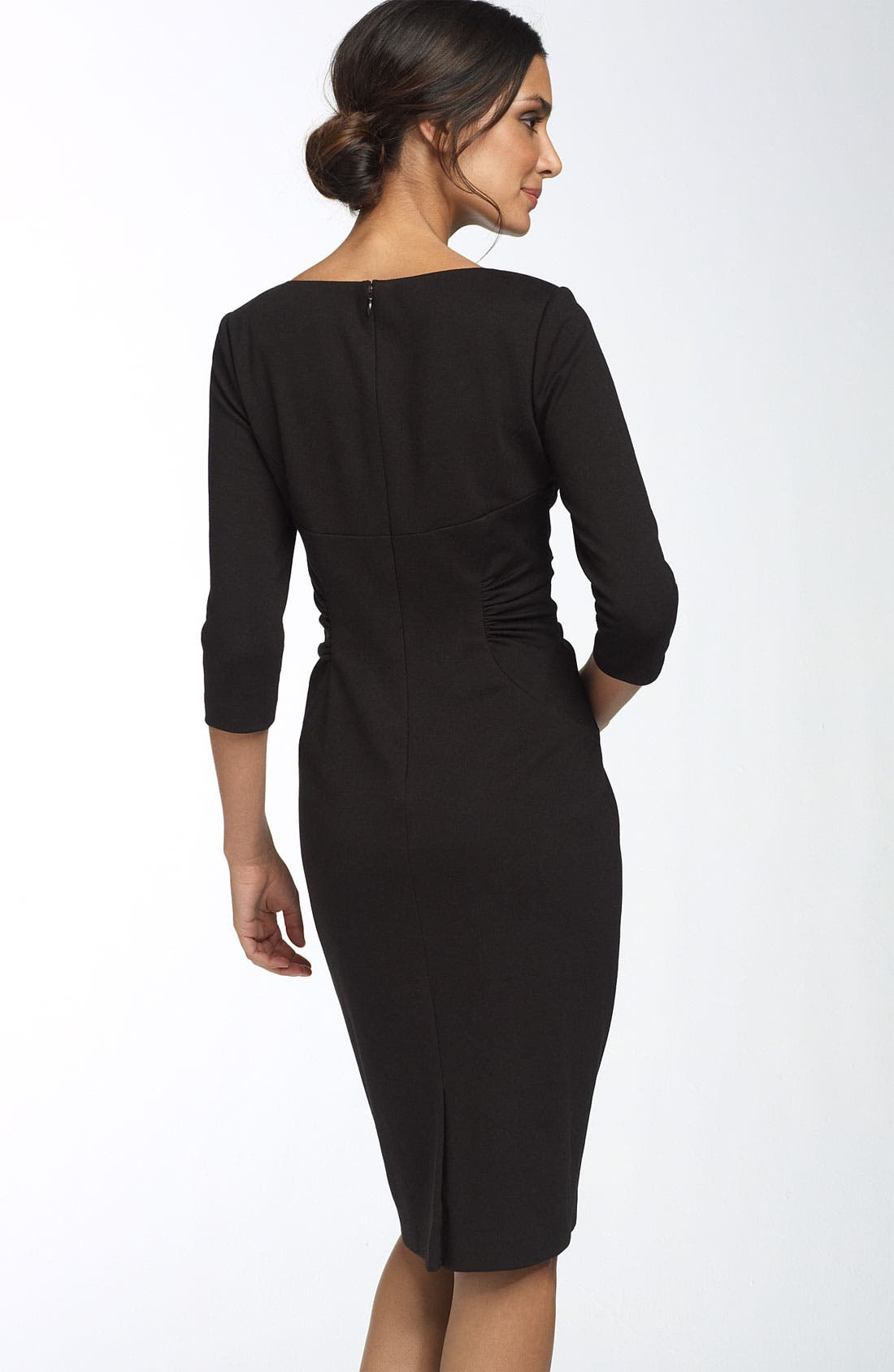Alternate Image 2  - Adrianna Papell Ruched Matte Jersey Sheath Dress
