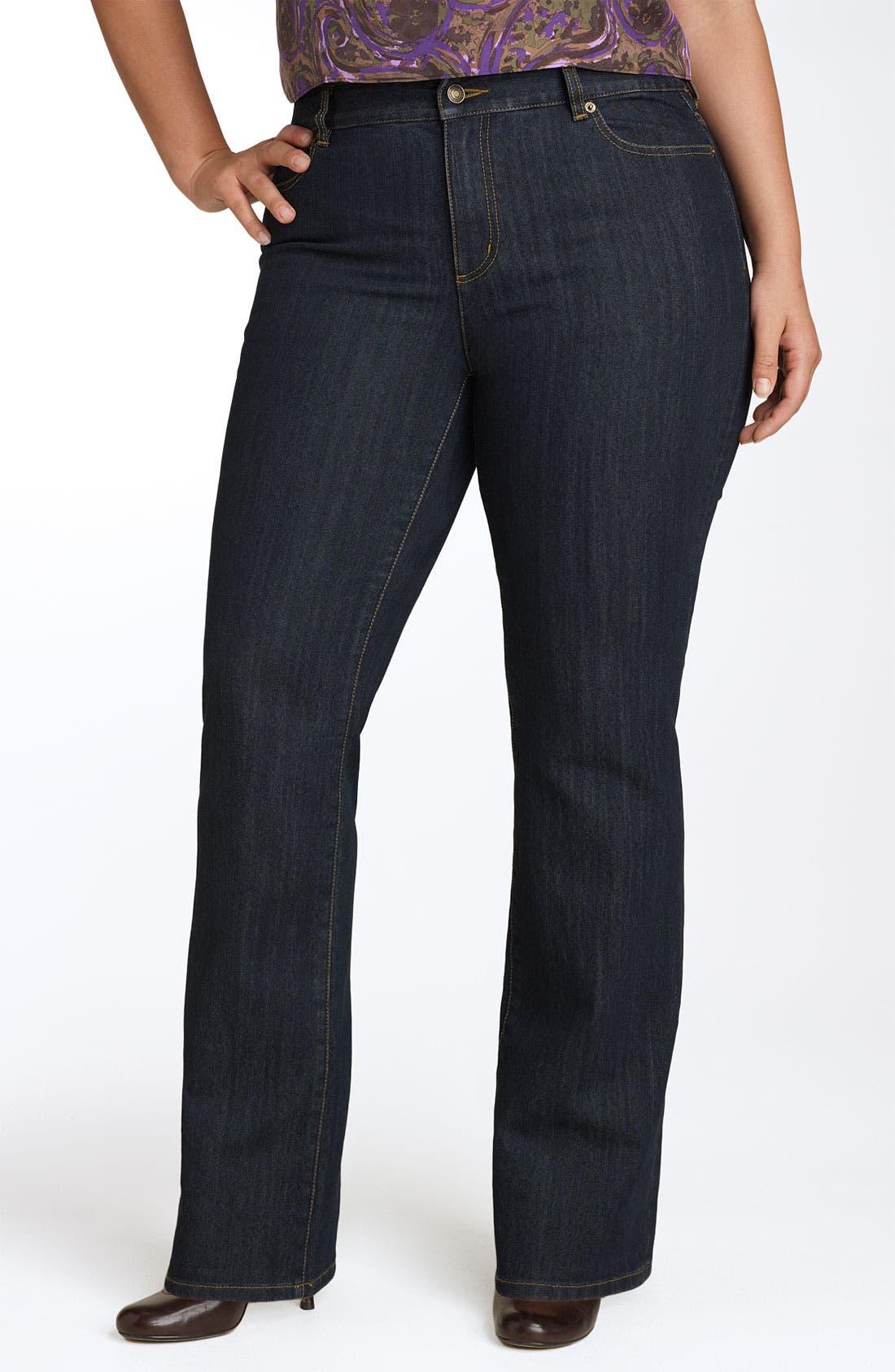 Main Image - MICHAEL Michael Kors 'Sausalito' Bootcut Jeans (Plus Size)