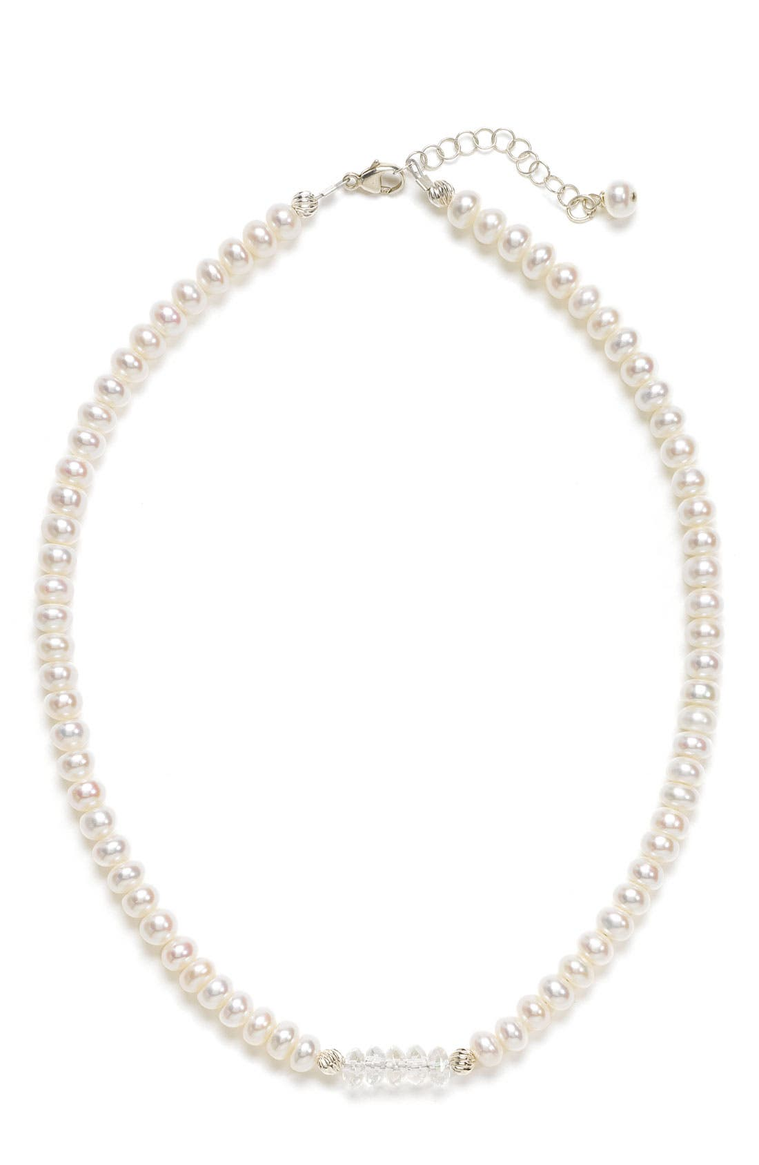 Alternate Image 1 Selected - Abela Designs Freshwater Pearl Necklace (Girls)