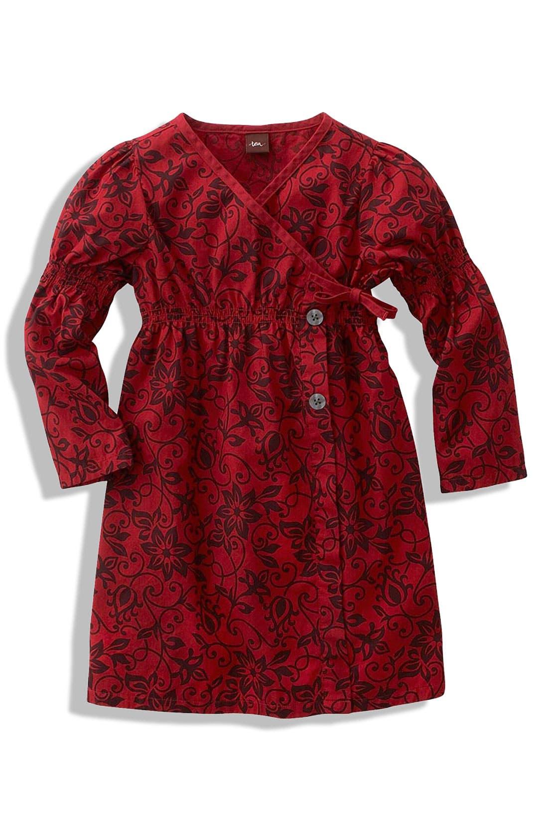 Main Image - Tea Collection 'Romania' Floral Poplin Dress (Little Girls)