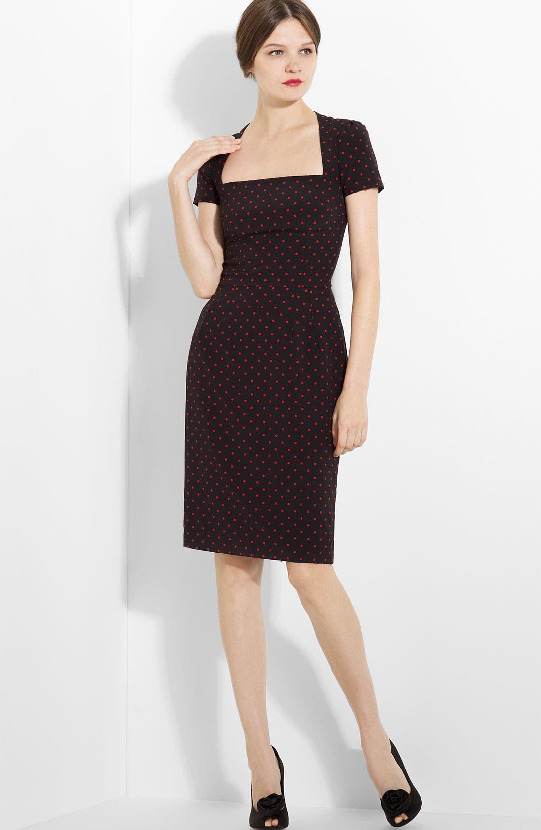 Main Image - Dolce&Gabbana Polka Dot Stretch Charmeuse Dress