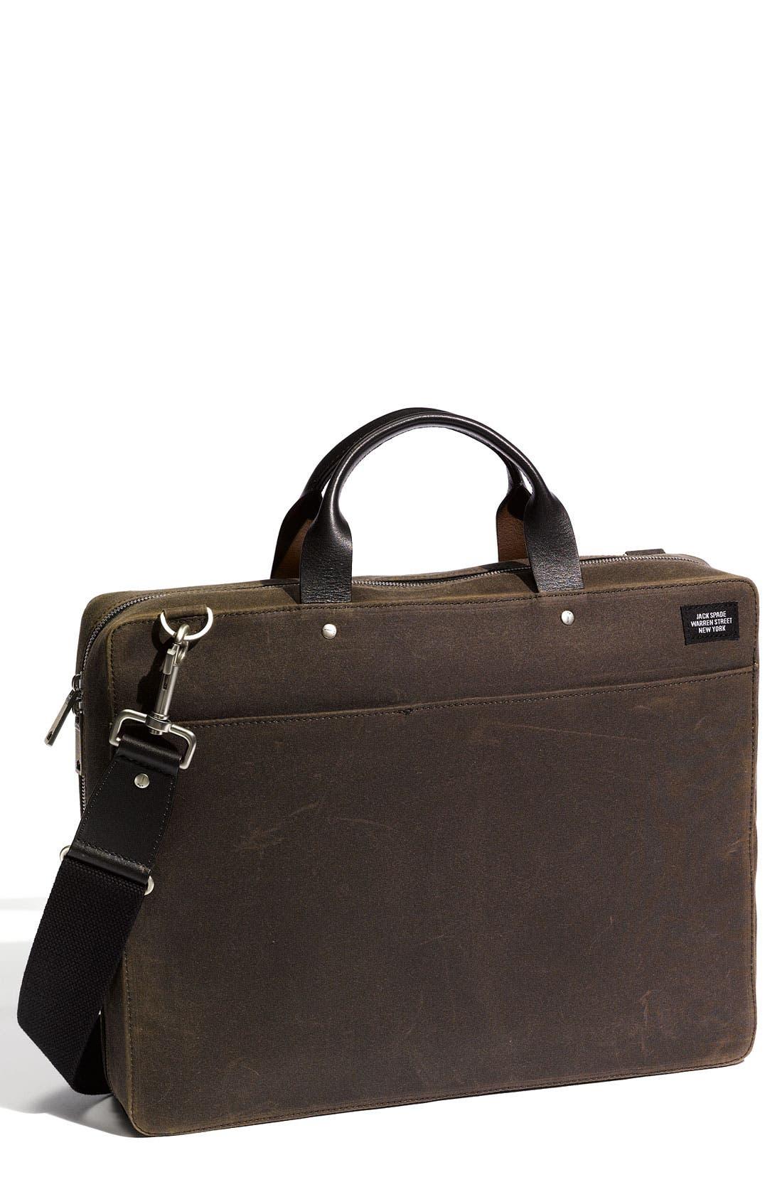 Main Image - Jack Spade 'Waxwear' Laptop File Case
