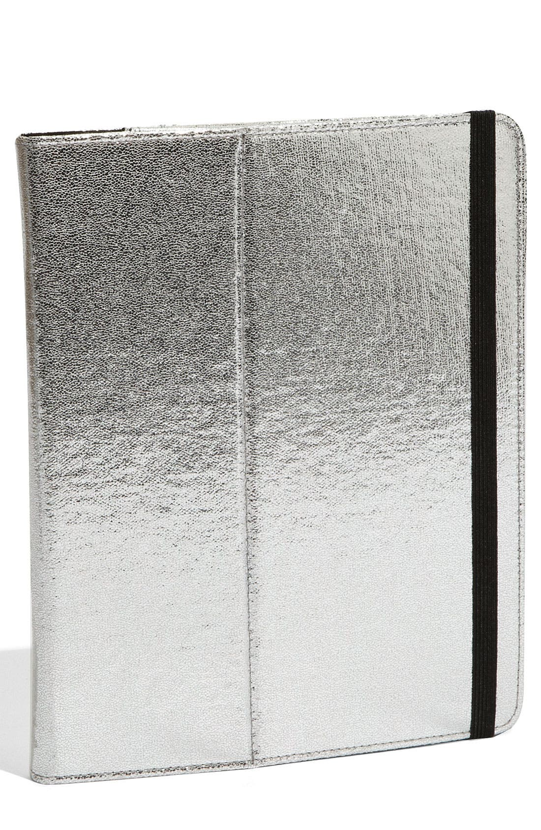 Alternate Image 1 Selected - Nordstrom 'Crackle' Metallic iPad Case