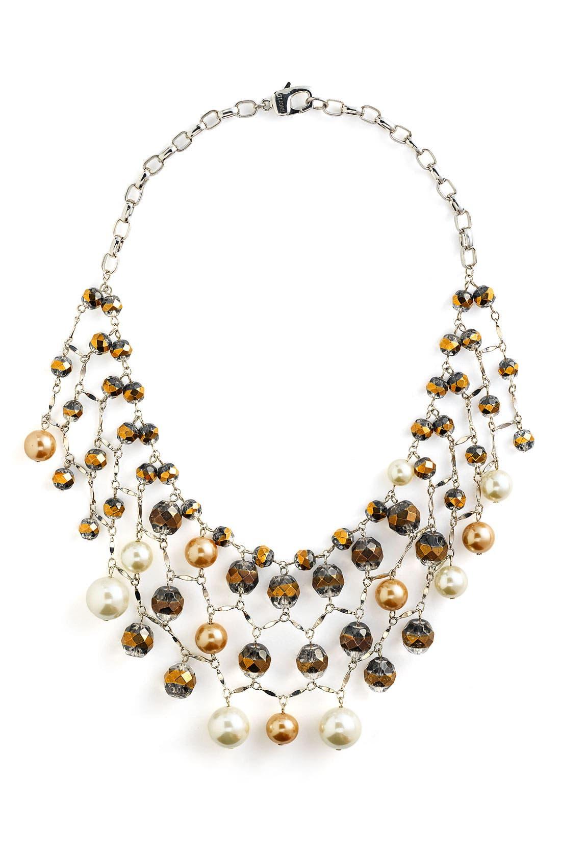 Bib Chain Necklace,                         Main,                         color, Dark Opalescent