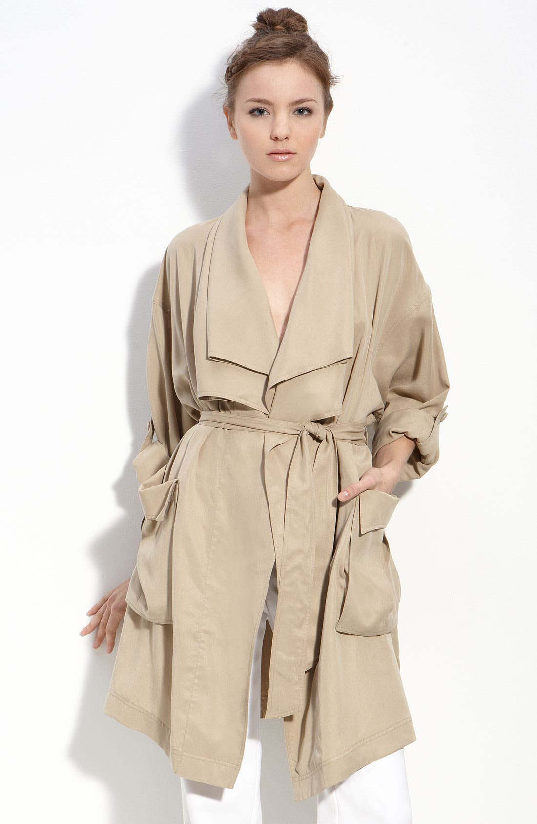Trench Coat,                             Main thumbnail 1, color,                             Camel