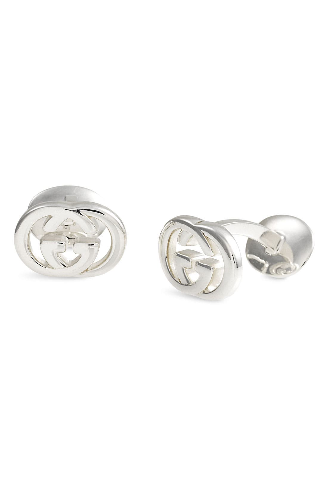 Alternate Image 1 Selected - Gucci 'Silver Britt' Cuff Links