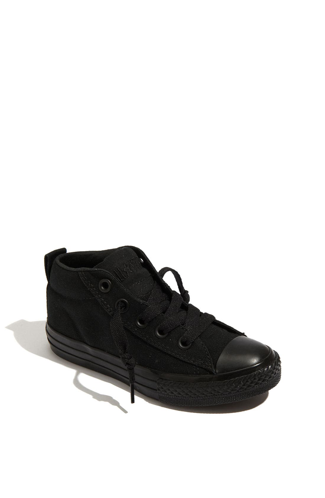Chuck Taylor<sup>®</sup> 'Street Mid Cab' Slip-On Sneaker,                             Main thumbnail 1, color,                             Black