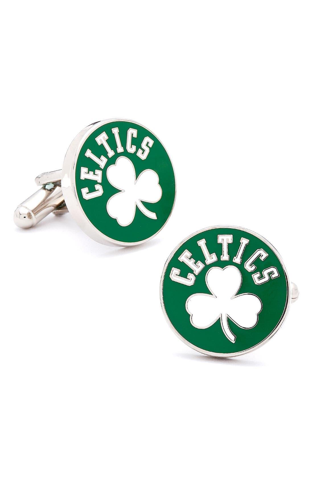 Main Image - Cufflinks, Inc. 'Boston Celtics' Cuff Links