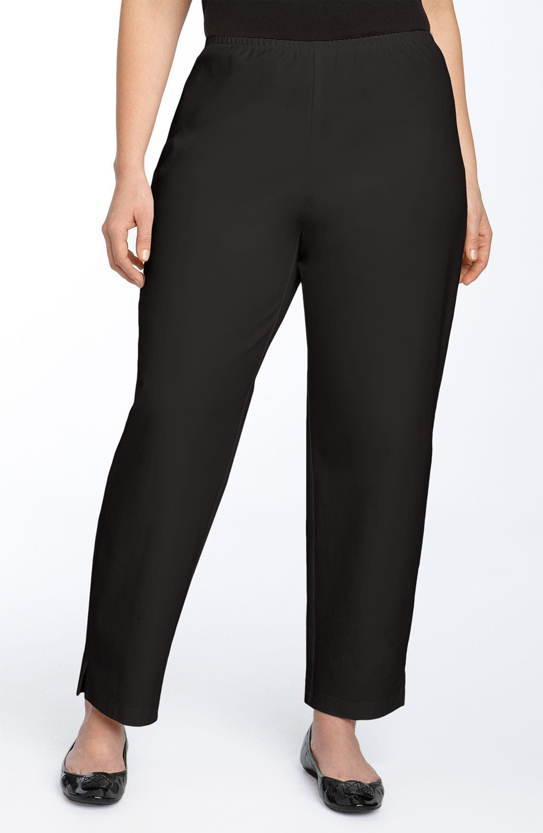 Main Image - Eileen Fisher Stretch Organic Cotton Ankle Pants (Plus Size)