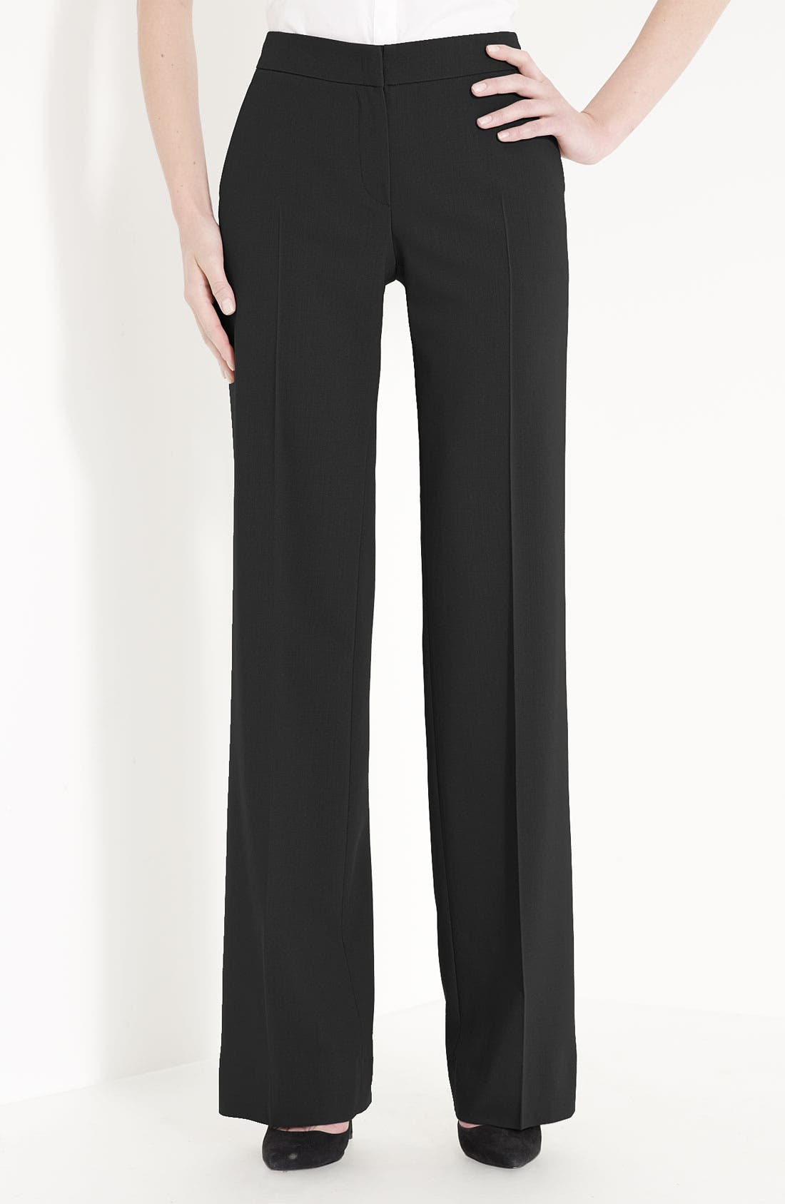 Alternate Image 1 Selected - Armani Collezioni Featherweight Wool Pants