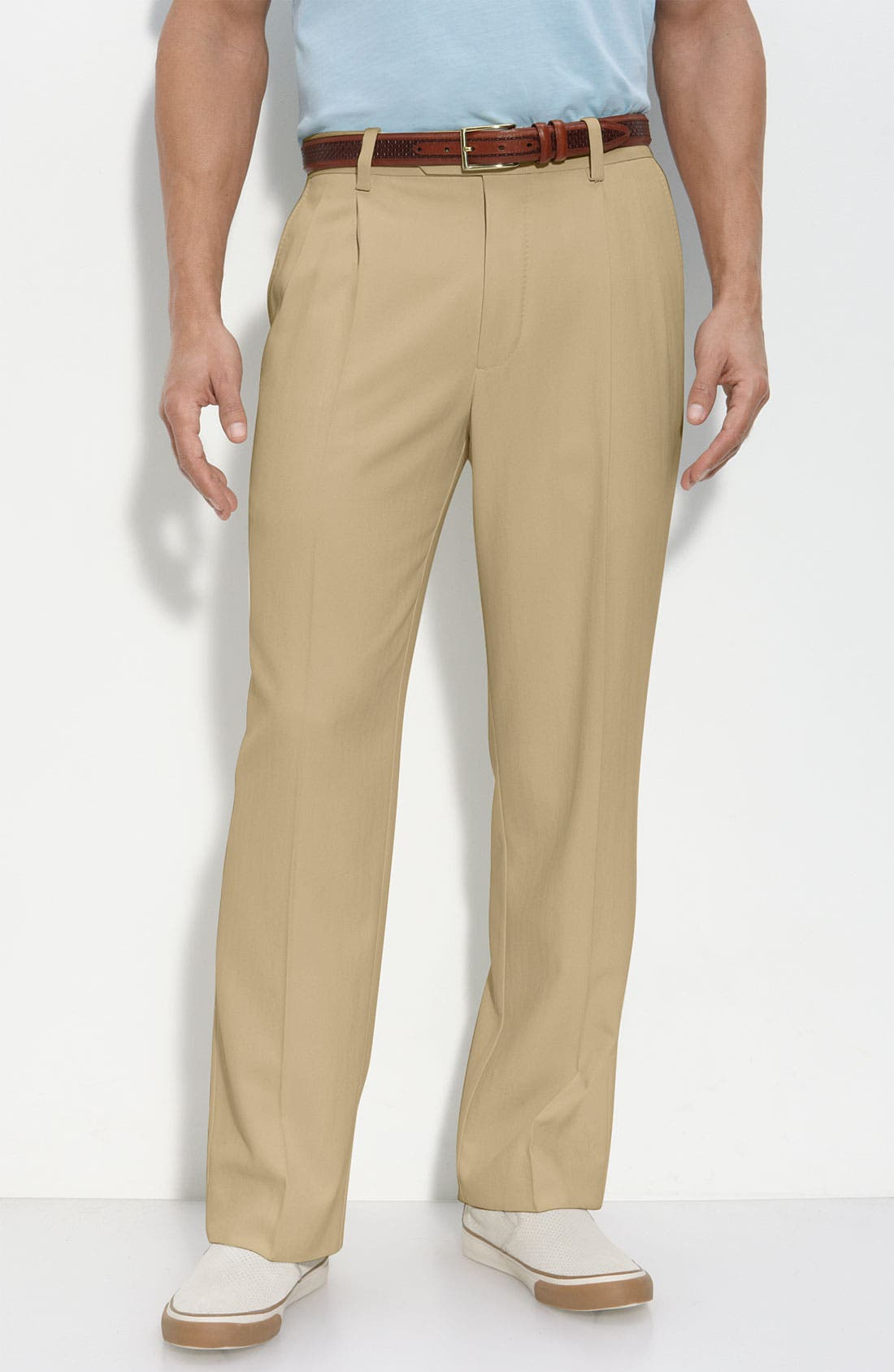 Main Image - Tommy Bahama 'Flying Fishbone' Pleated Pants