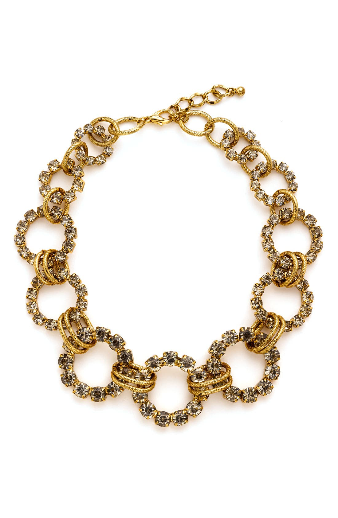 Main Image - Tasha Pavé Open Circle Necklace