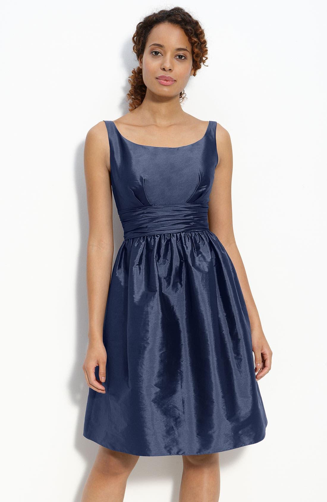 Main Image - Eliza J Sleeveless Taffeta Dress