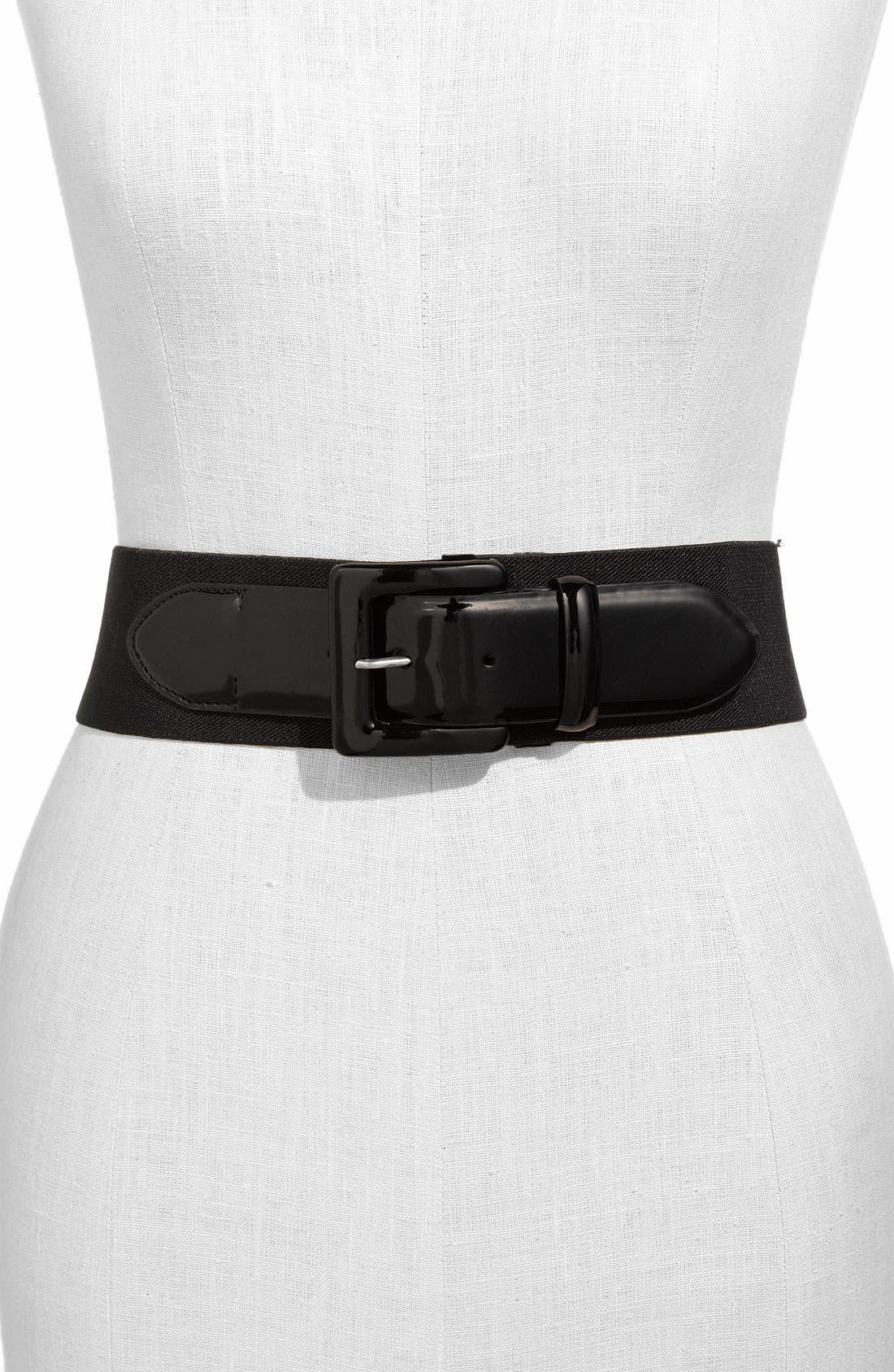Alternate Image 1 Selected - Lauren Ralph Lauren Stretch Belt
