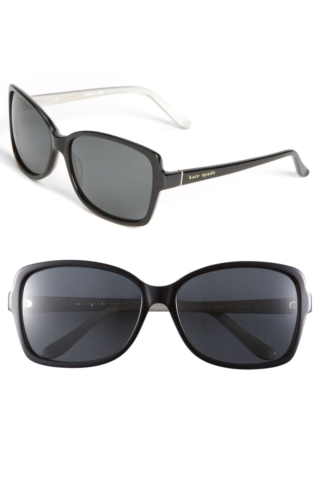 Main Image - kate spade new york 'ailey' 58mm polarized sunglasses
