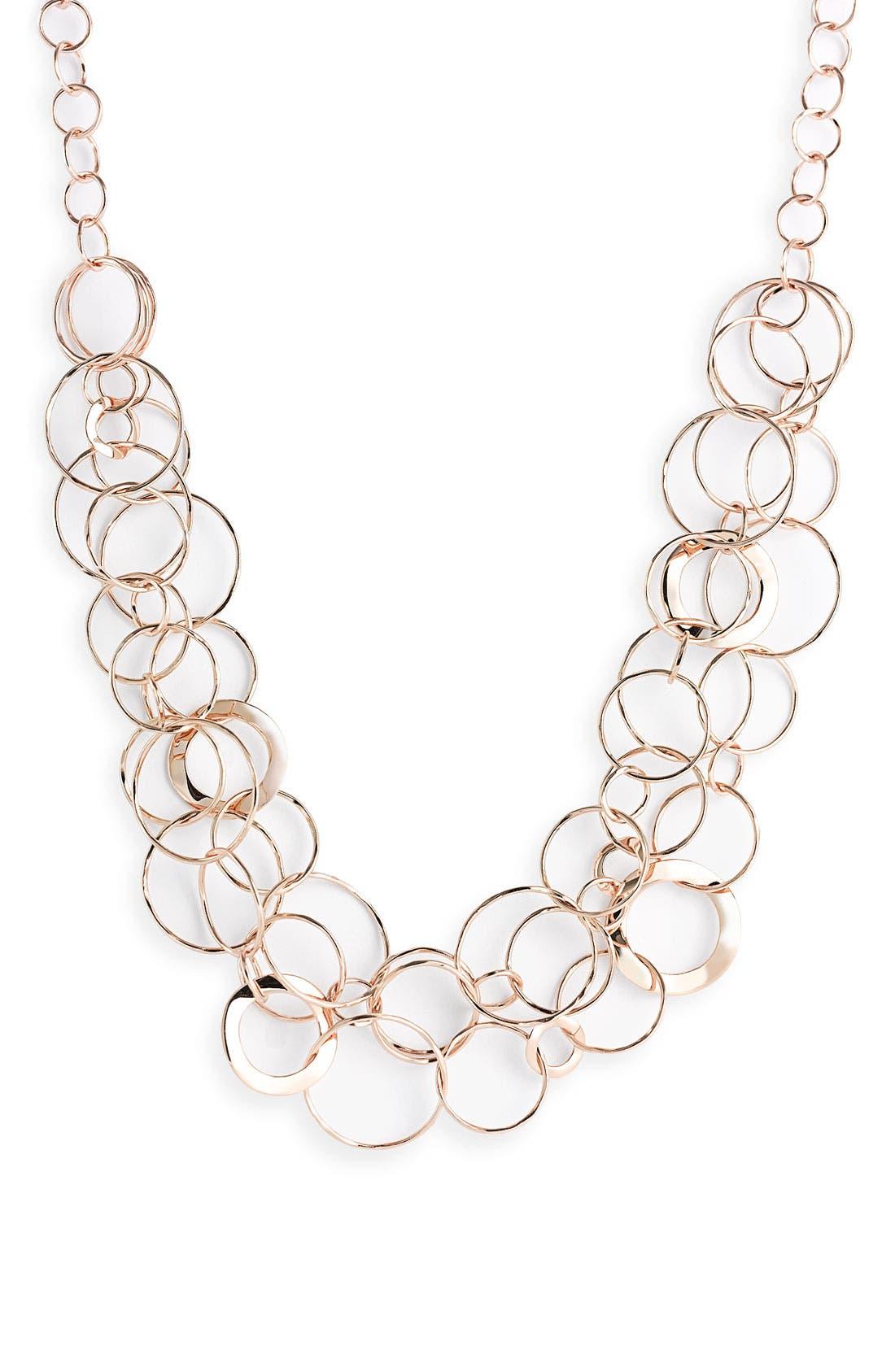 Main Image - Ippolita Rosé Wavy Oval Link Necklace