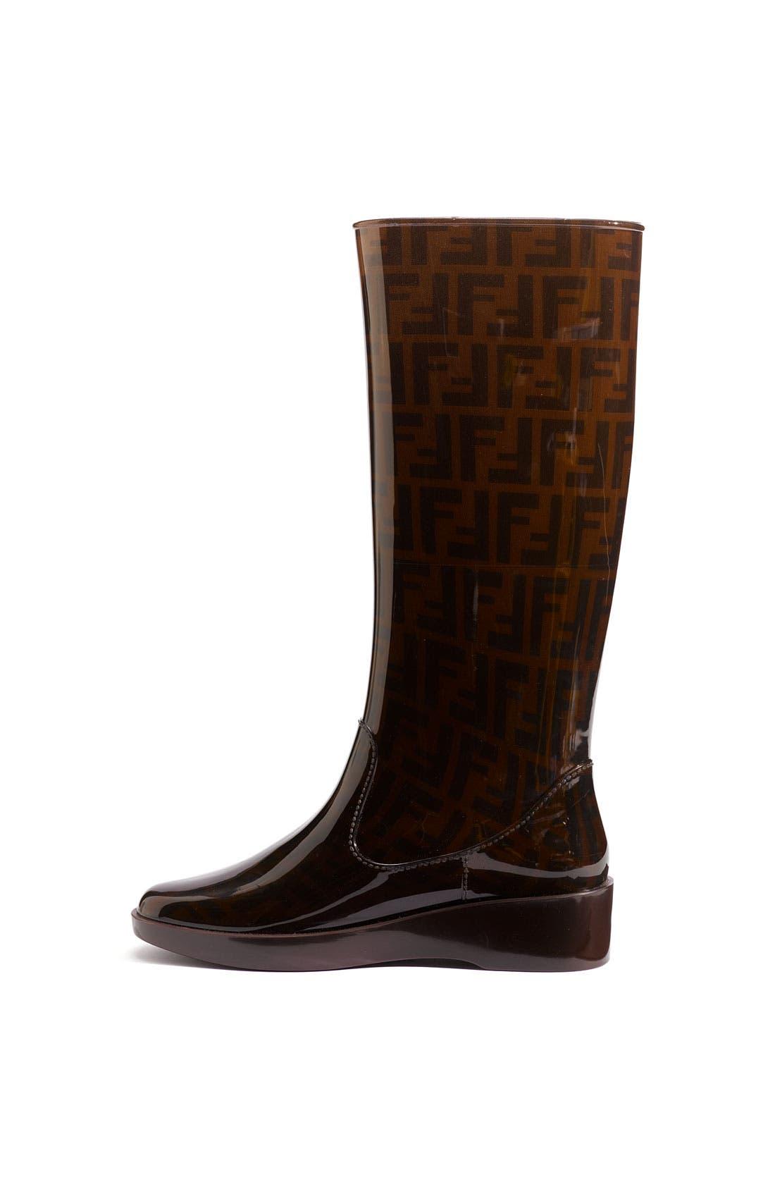 Alternate Image 2  - Fendi 'Zucca' Rain Boot