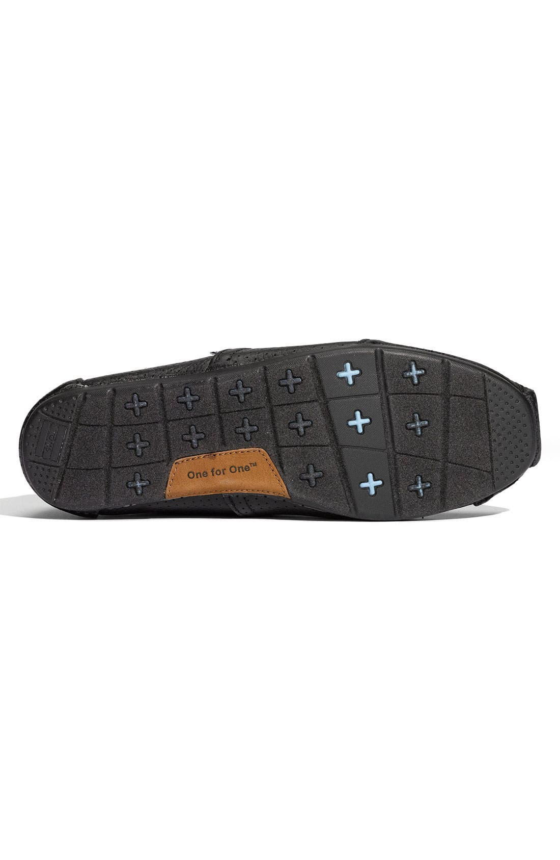 Alternate Image 4  - TOMS Perforated Leather Slip-On (Men)