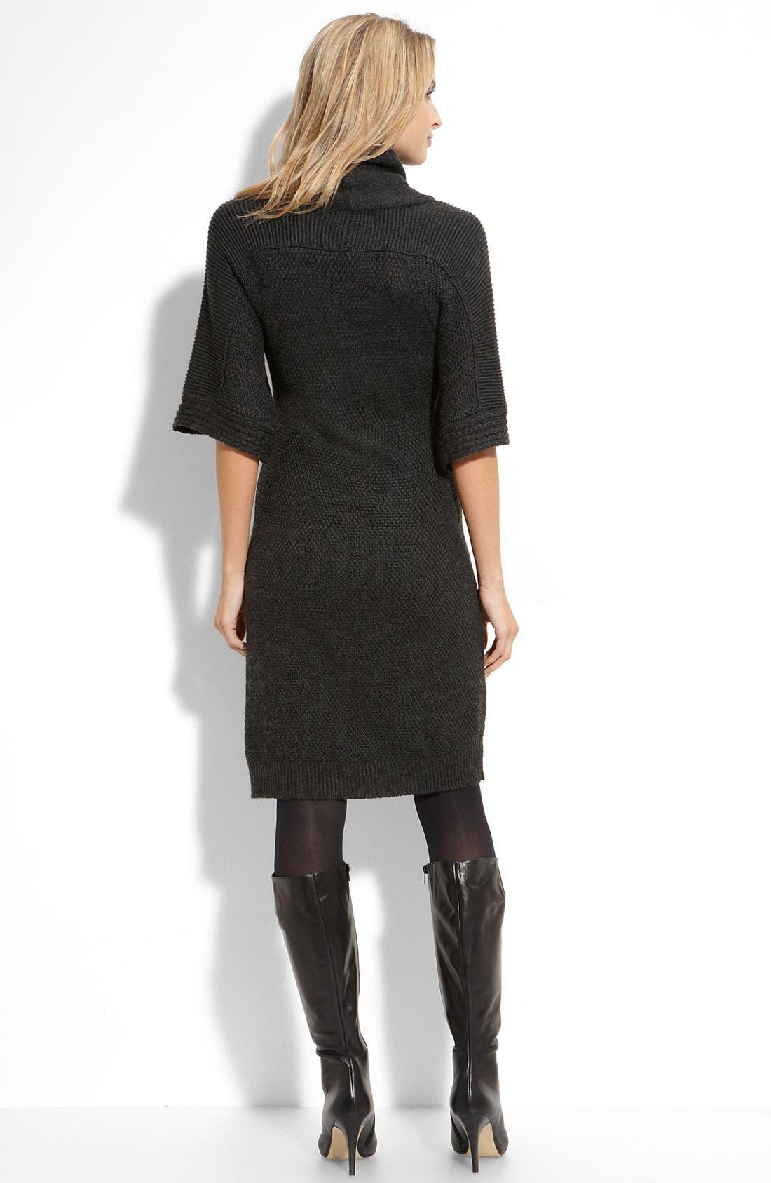 Alternate Image 2  - Tahari by Arthur S. Levine Cowl Neck Sweater Dress